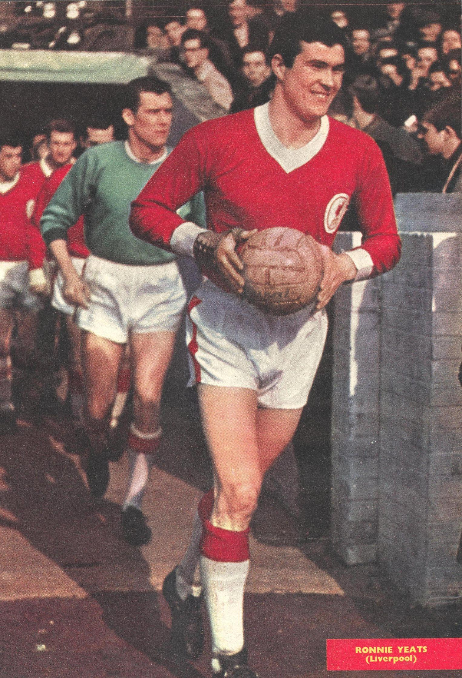 The captain leads out Liverpool - Football Monthly 1962