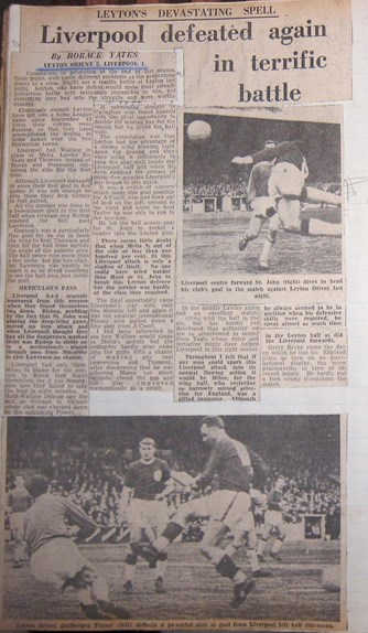 Press report from Ken Charmer's scrapbook
