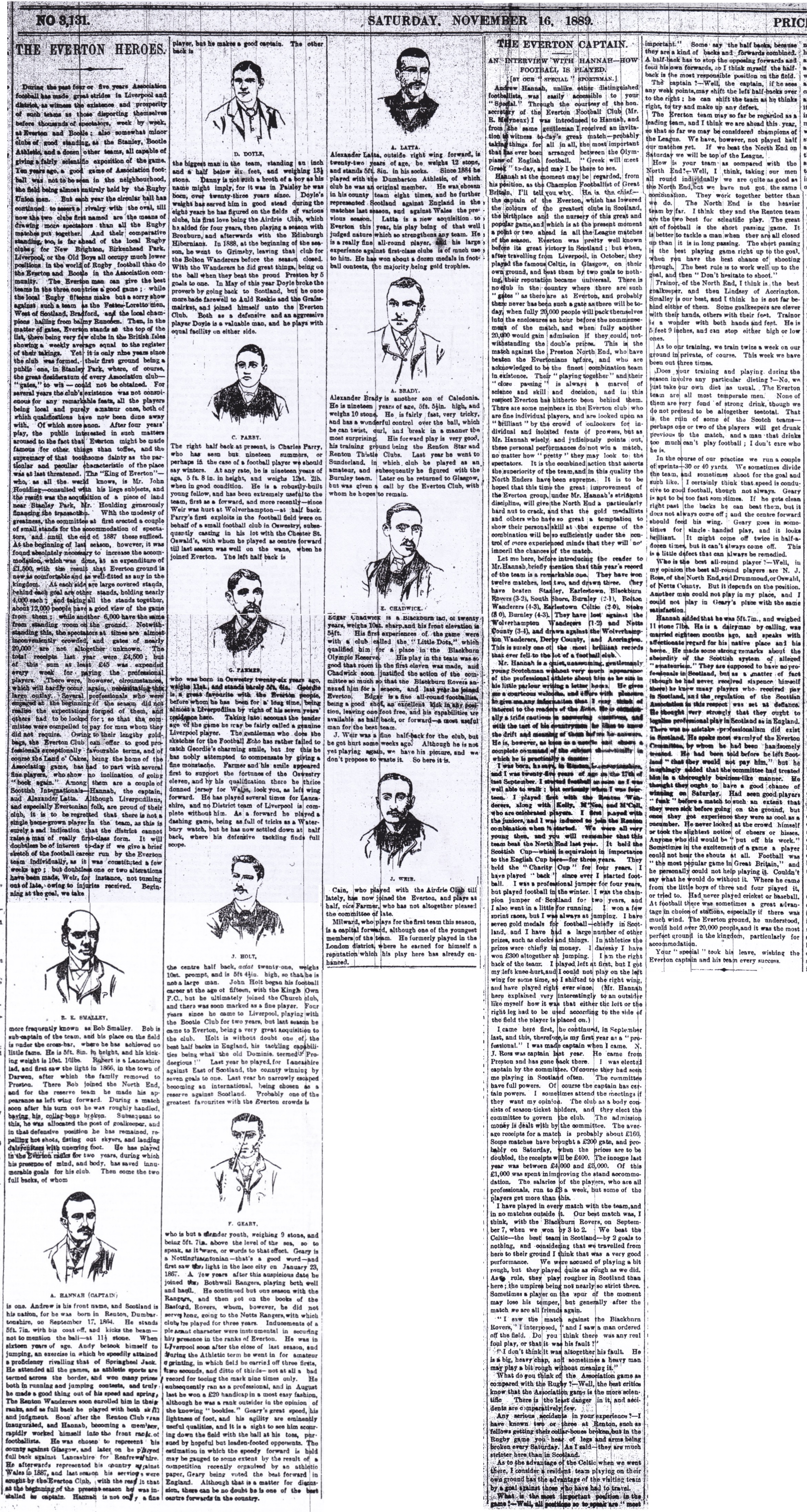 Everton and Chadwick in profile in 1889!