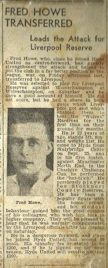 Fred Howe transferred to Liverpool