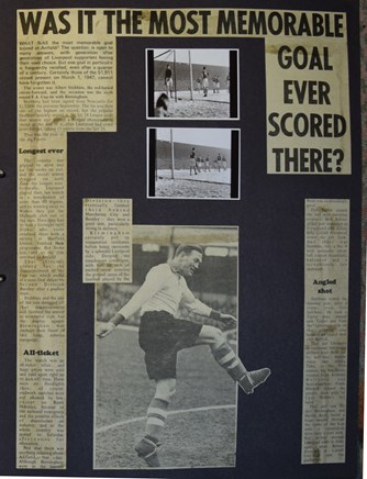 1 March 1947 - Was it the most memorable goal scored there?