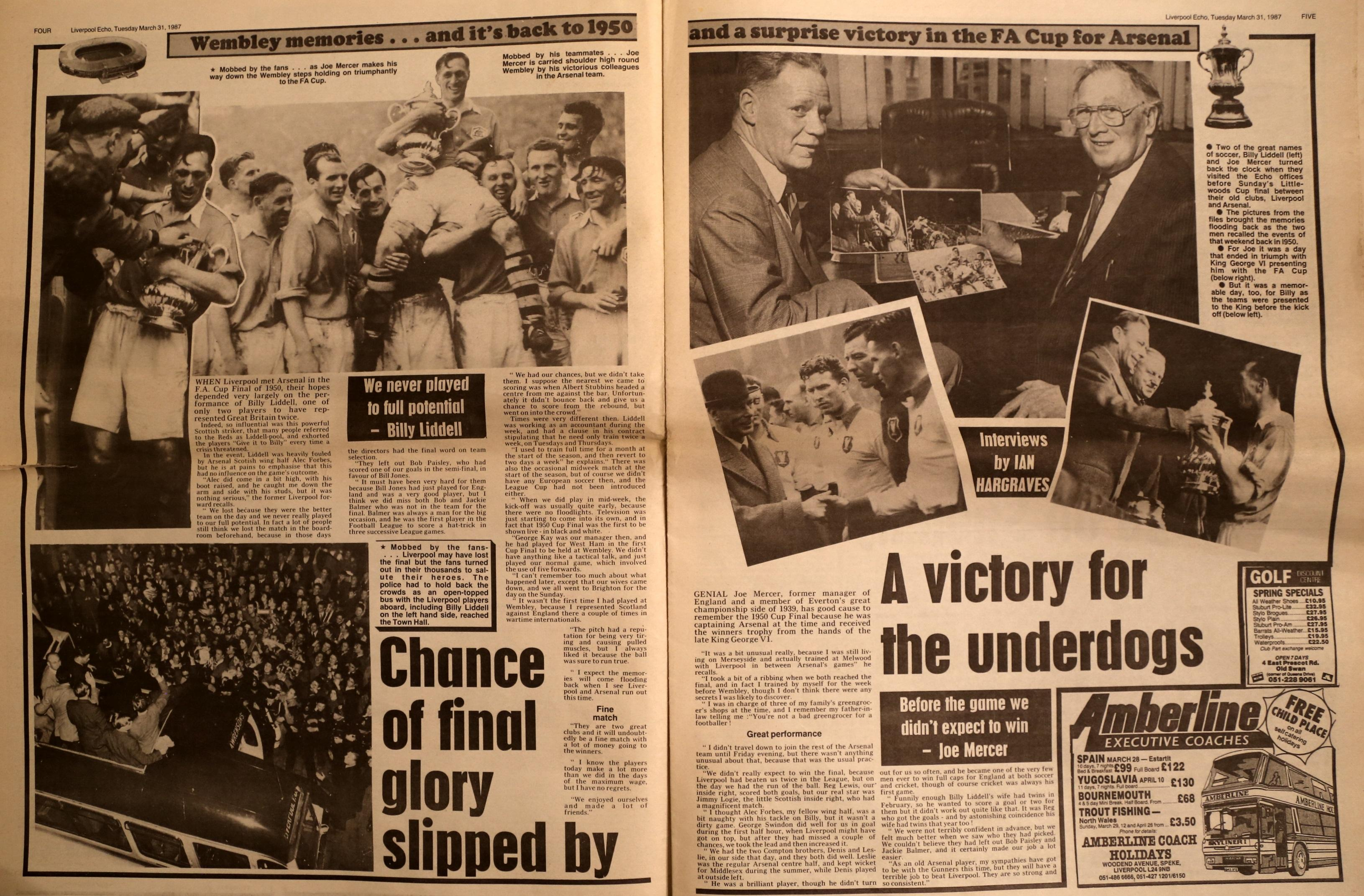 Chance of final glory slipped by - The Echo on 29 April 1950