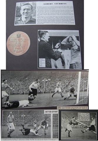 Spotlight on Stubbins in the 1950 FA Cup final