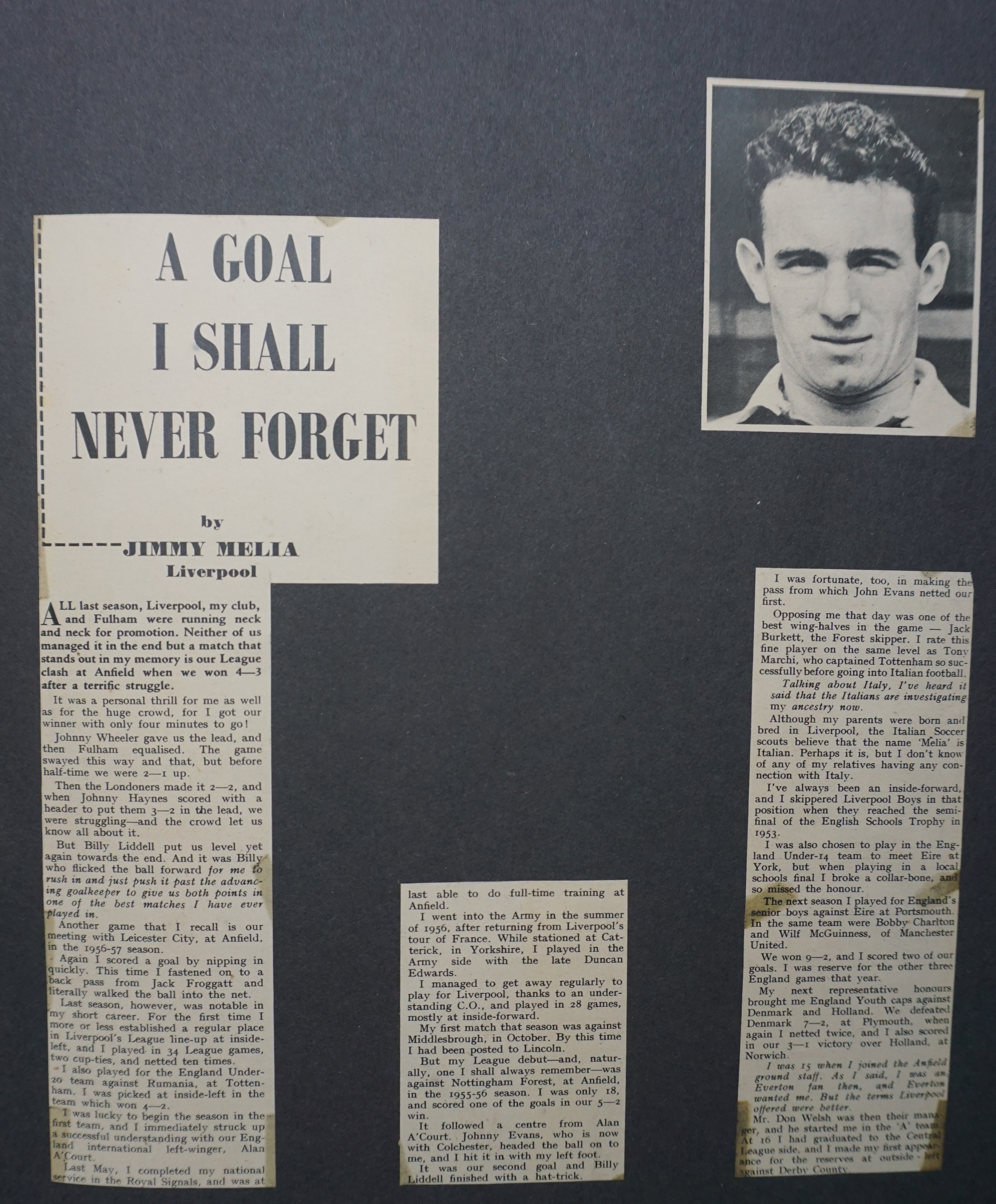 1957 - A goal I shall never forget