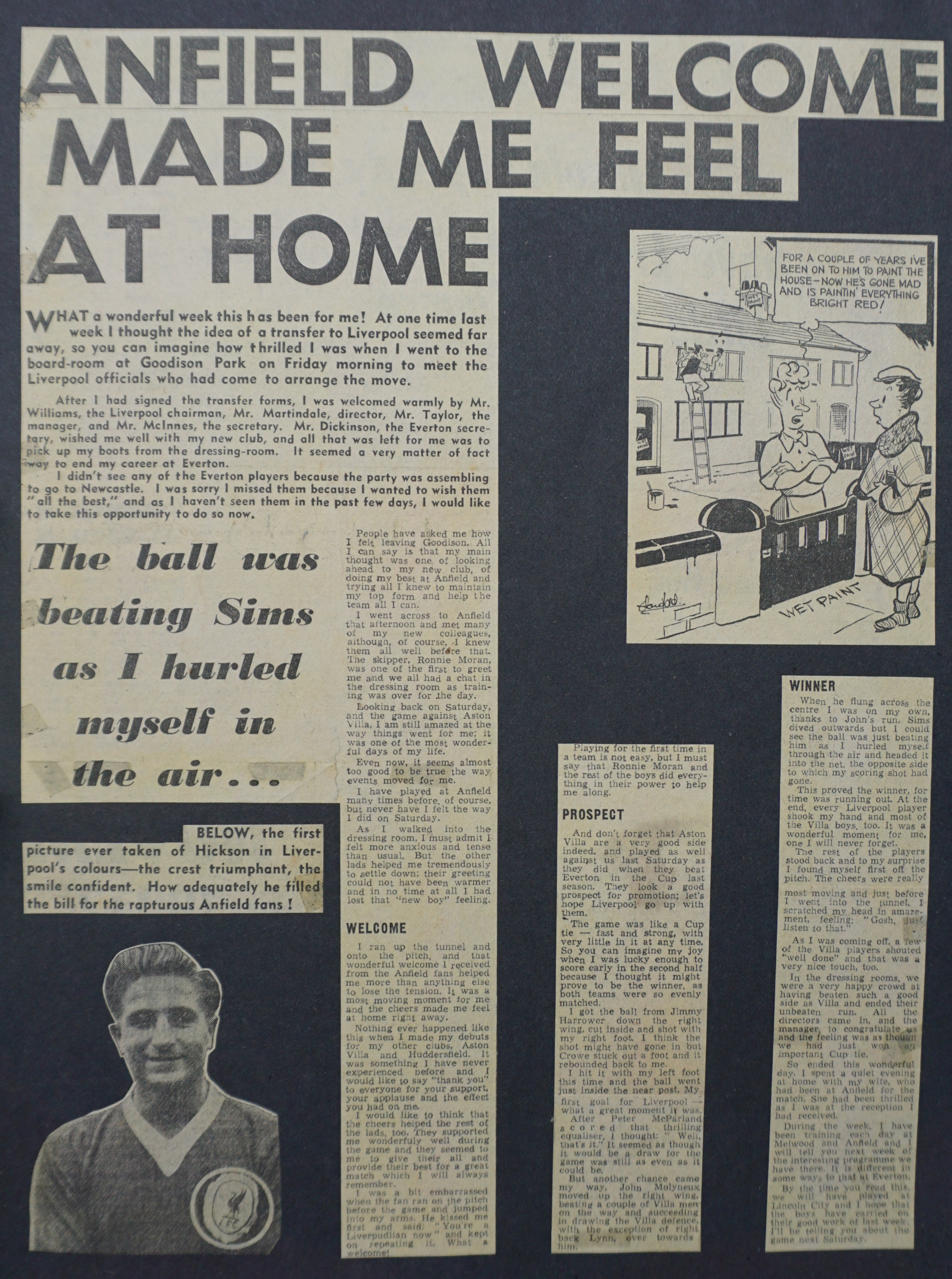 Anfield made me feel at home - November 1959