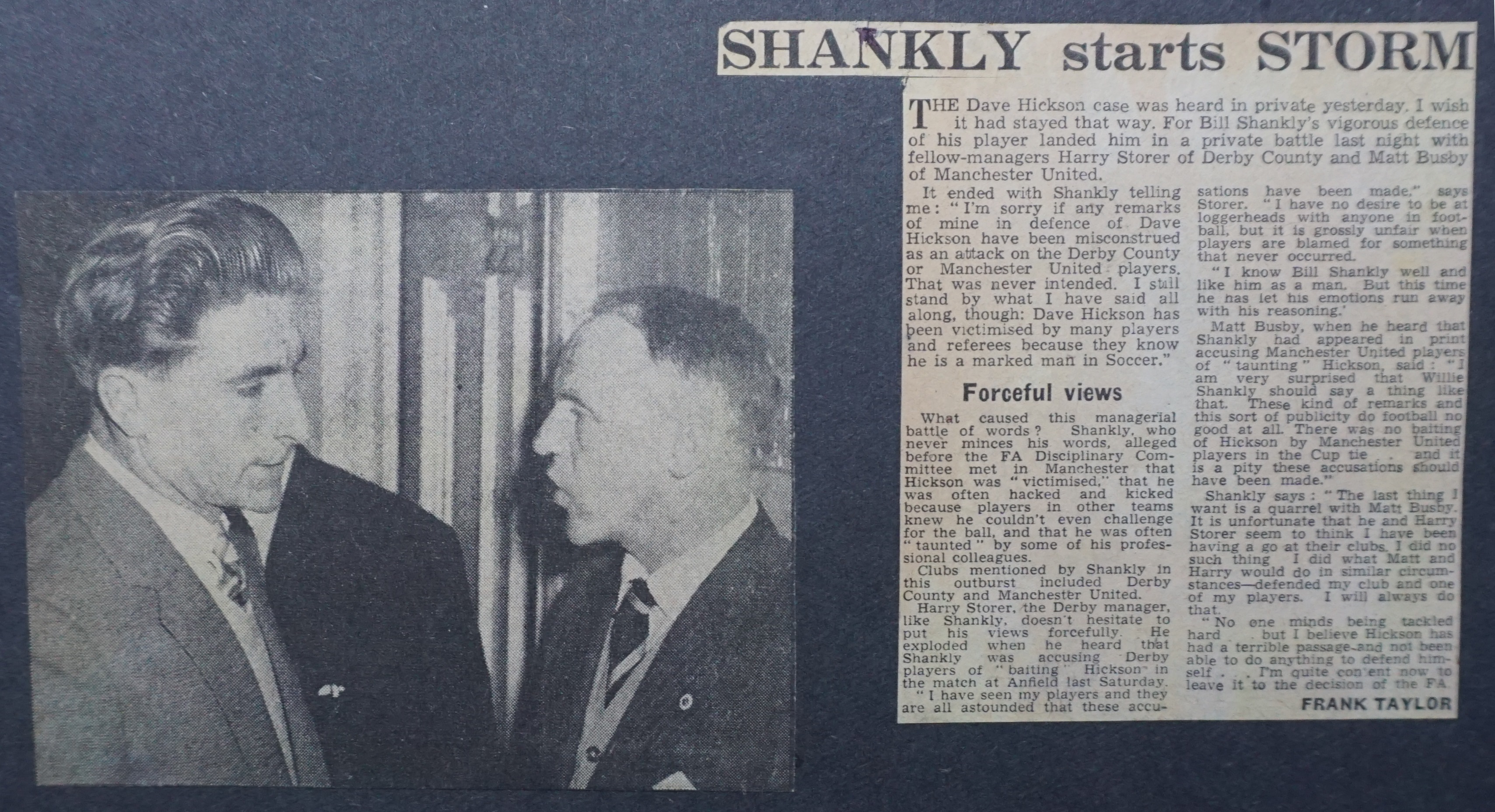 Shankly starts storm