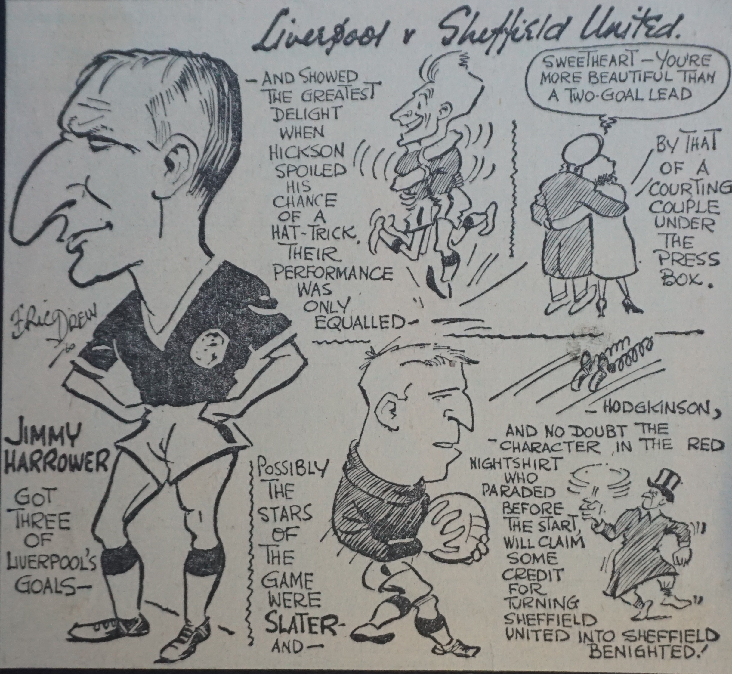 Harrower's hat-trick - 26 November 1960
