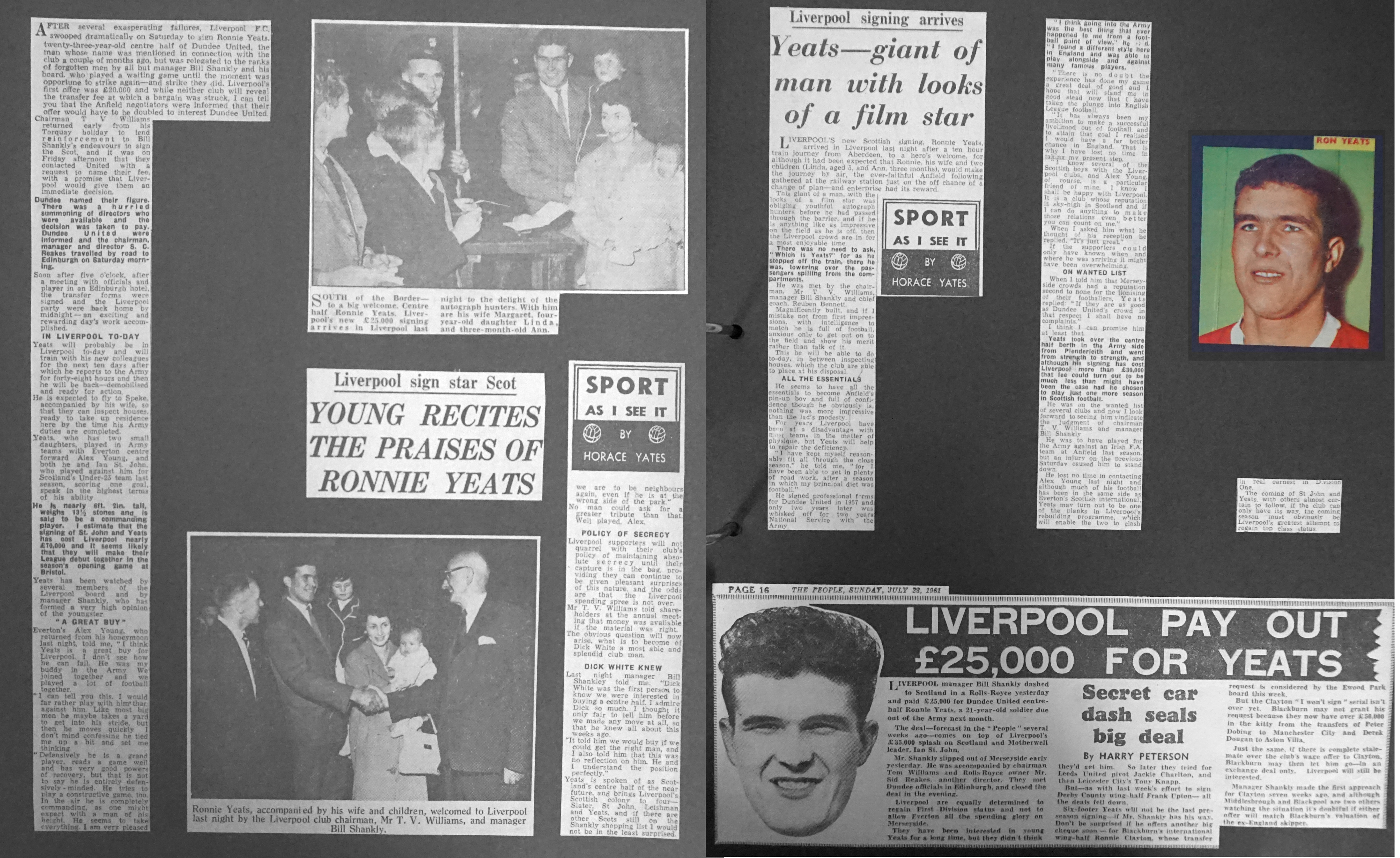 3b9f73221 Liverpool career stats for Ron Yeats - LFChistory - Stats galore for ...