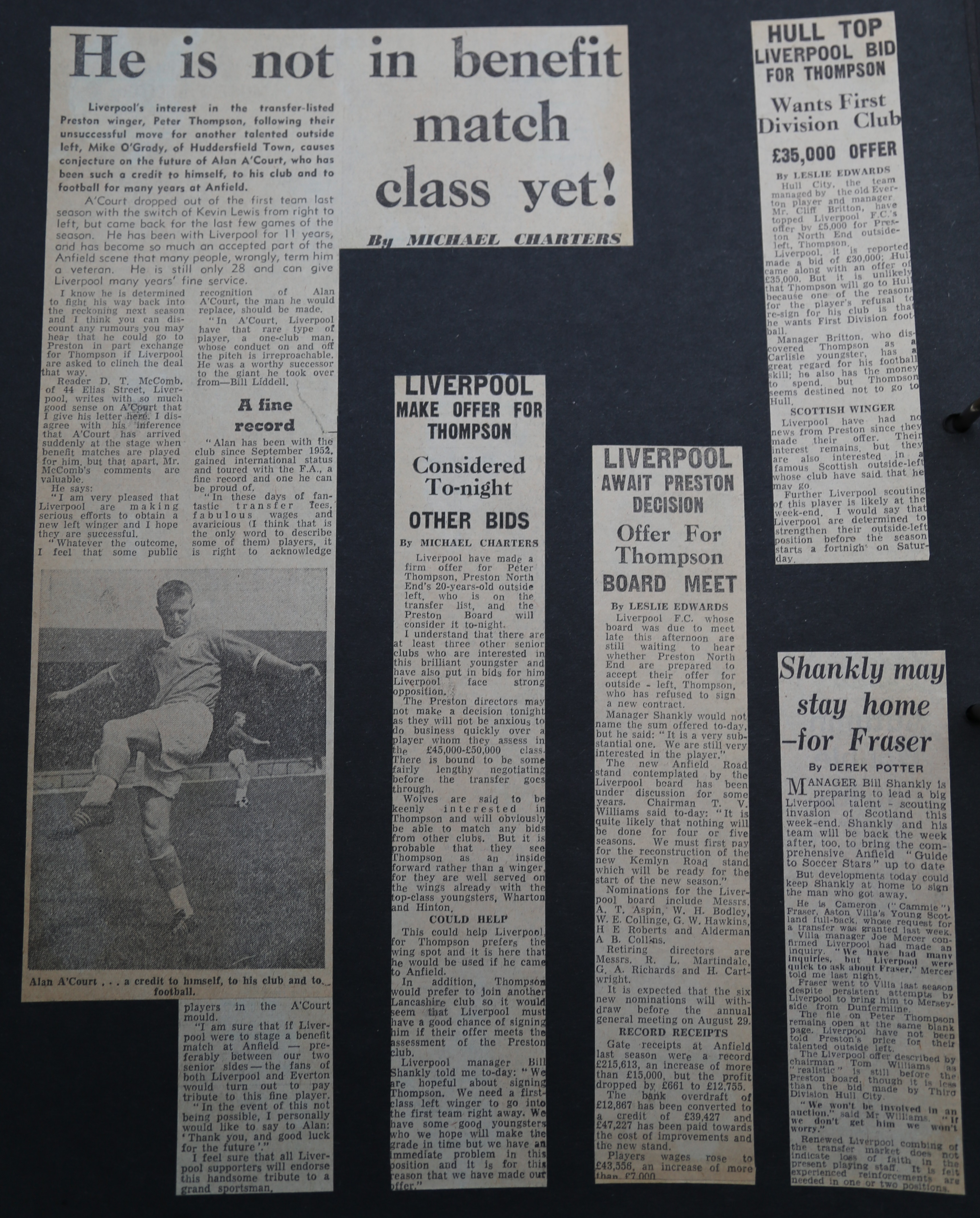 A'Court not done despite Thompson on his way to Anfield - August 1963