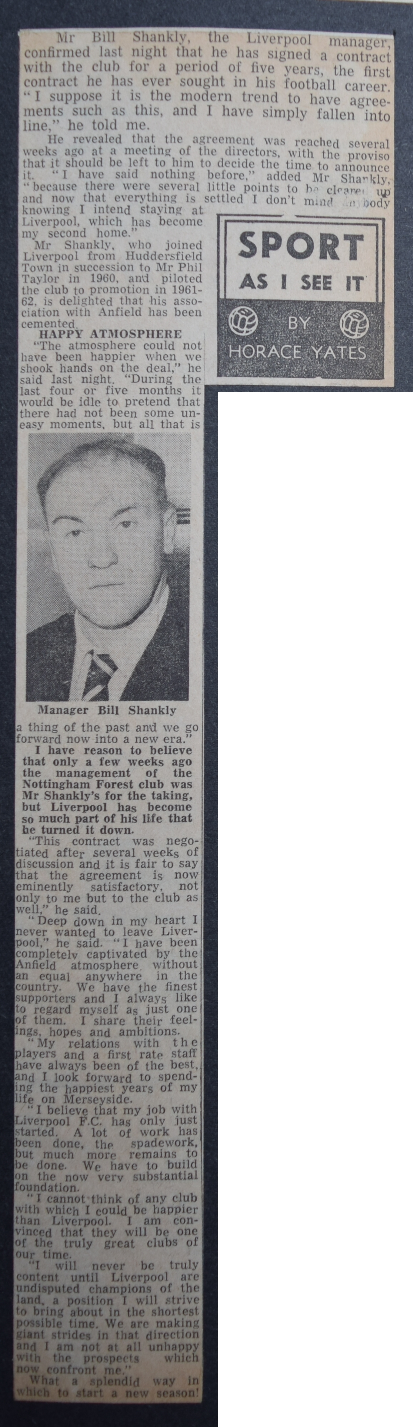 Shankly signs new contract - 1963
