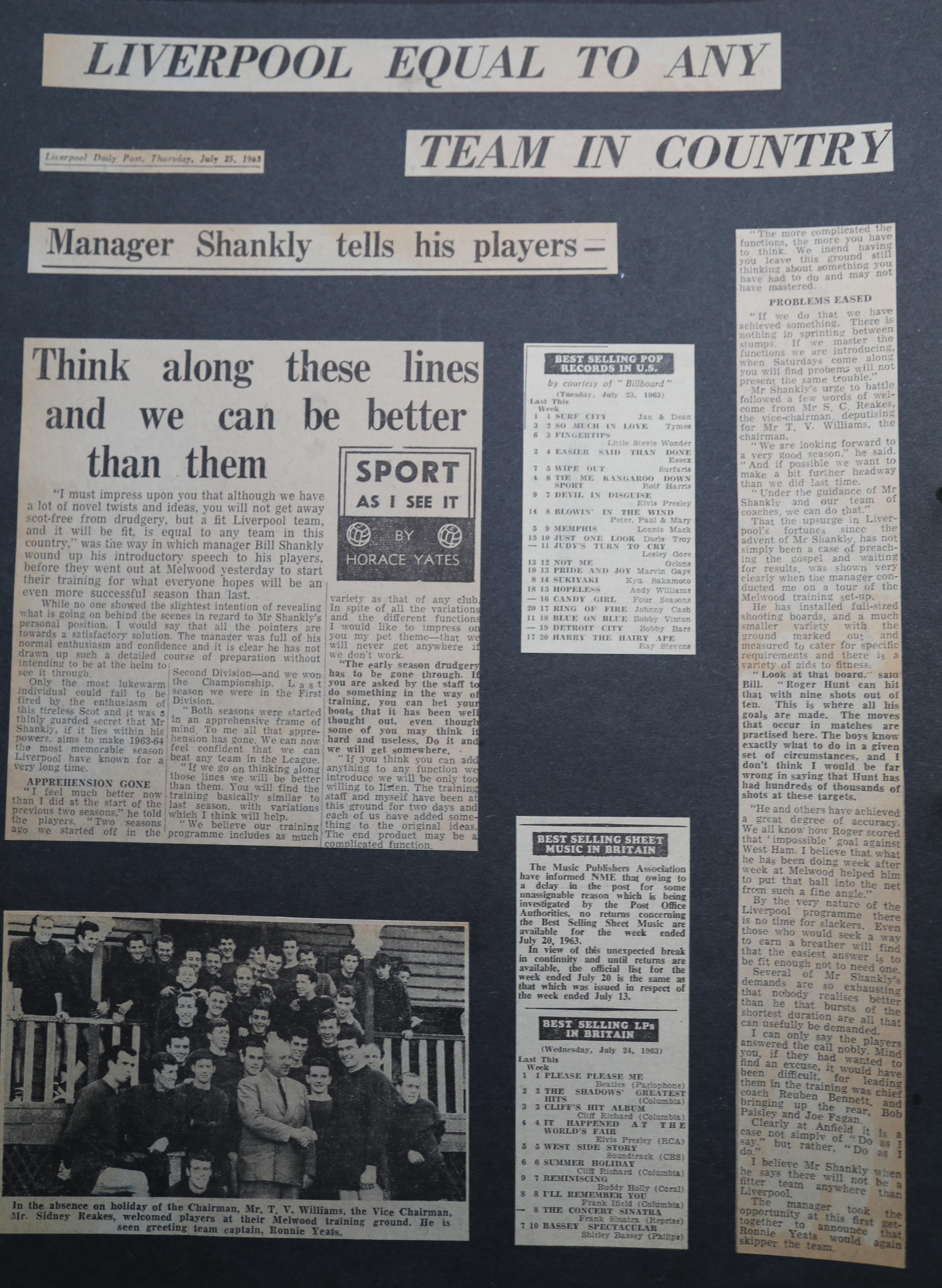 Liverpool equal to any team in the country - 25 July 1963