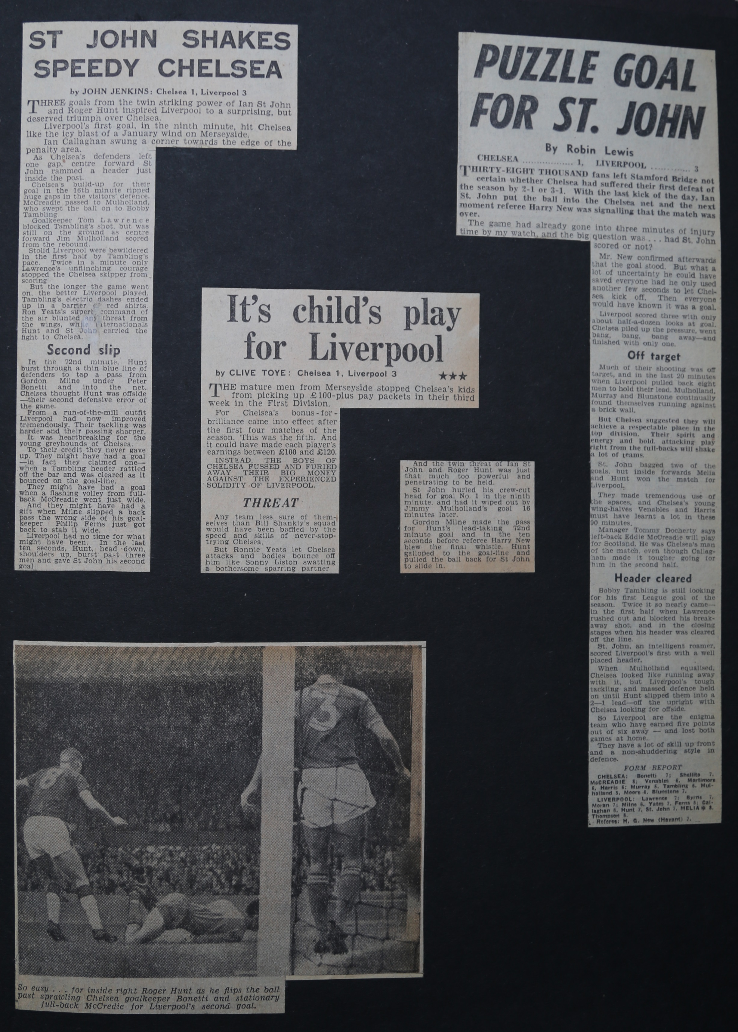 St John shakes speedy Chelsea - 7 September 1963
