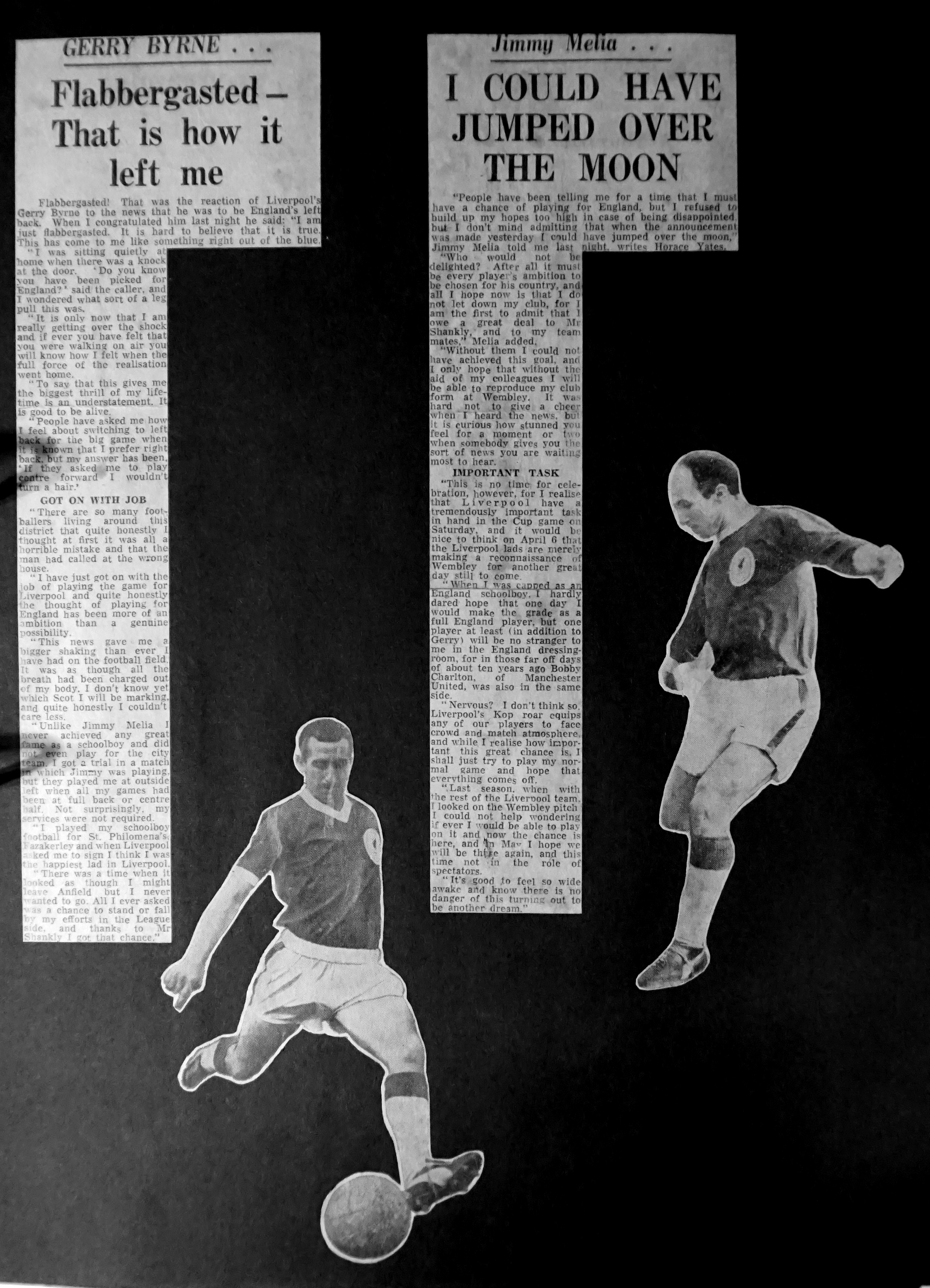 England debuts for Liverpool trio - June 1963