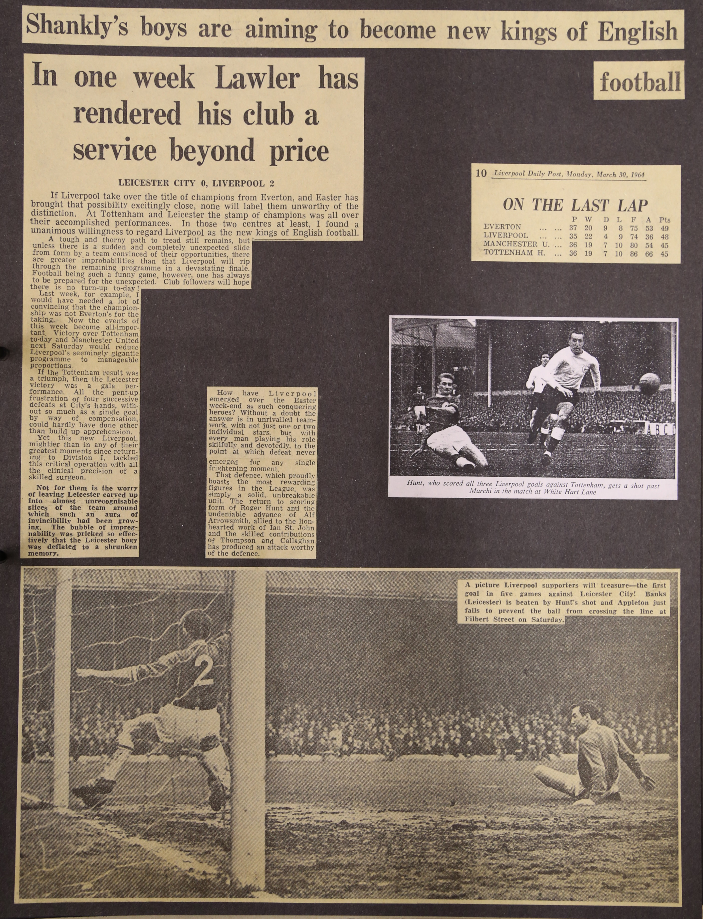 In one week Lawler has rendered his club service beyond price - 28 March 1964