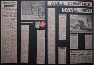 Agile Clemence saves Reds- 14 November 1970