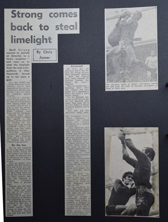 Strong comes back to steal limelight - 14 November 1970