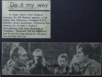 Clemence about to get England chance - November 1970