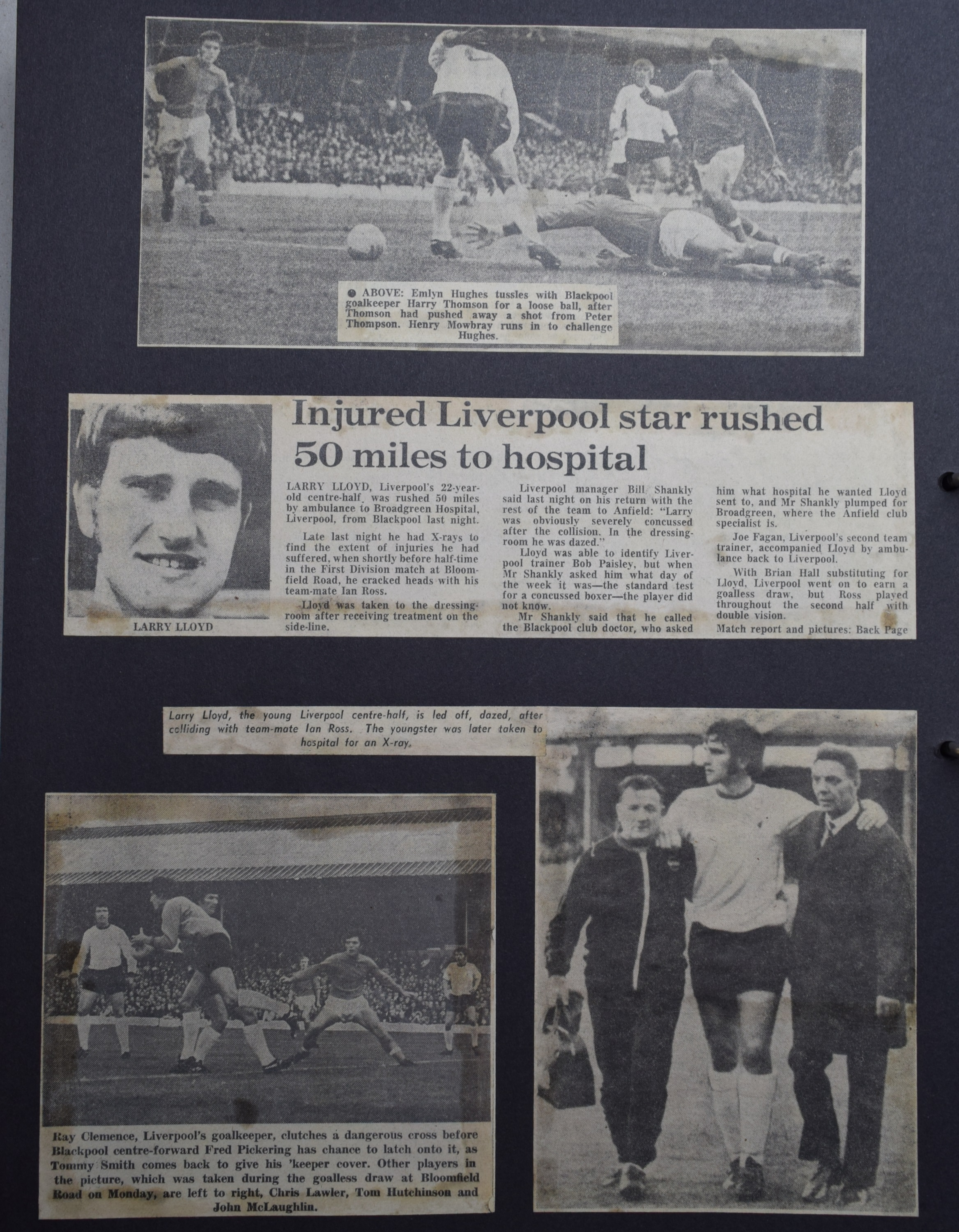 Injured Liverpool star rushed 50 miles to hospital - 17 August 1970