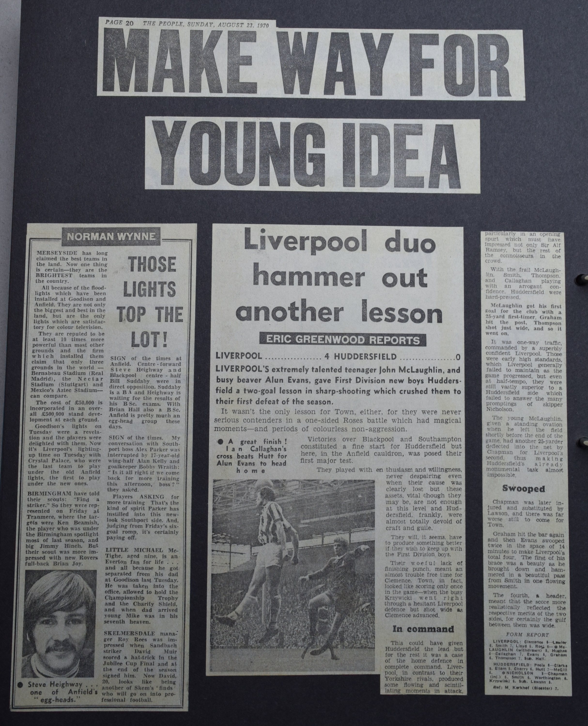 Make way for young idea! - 22 August 1970