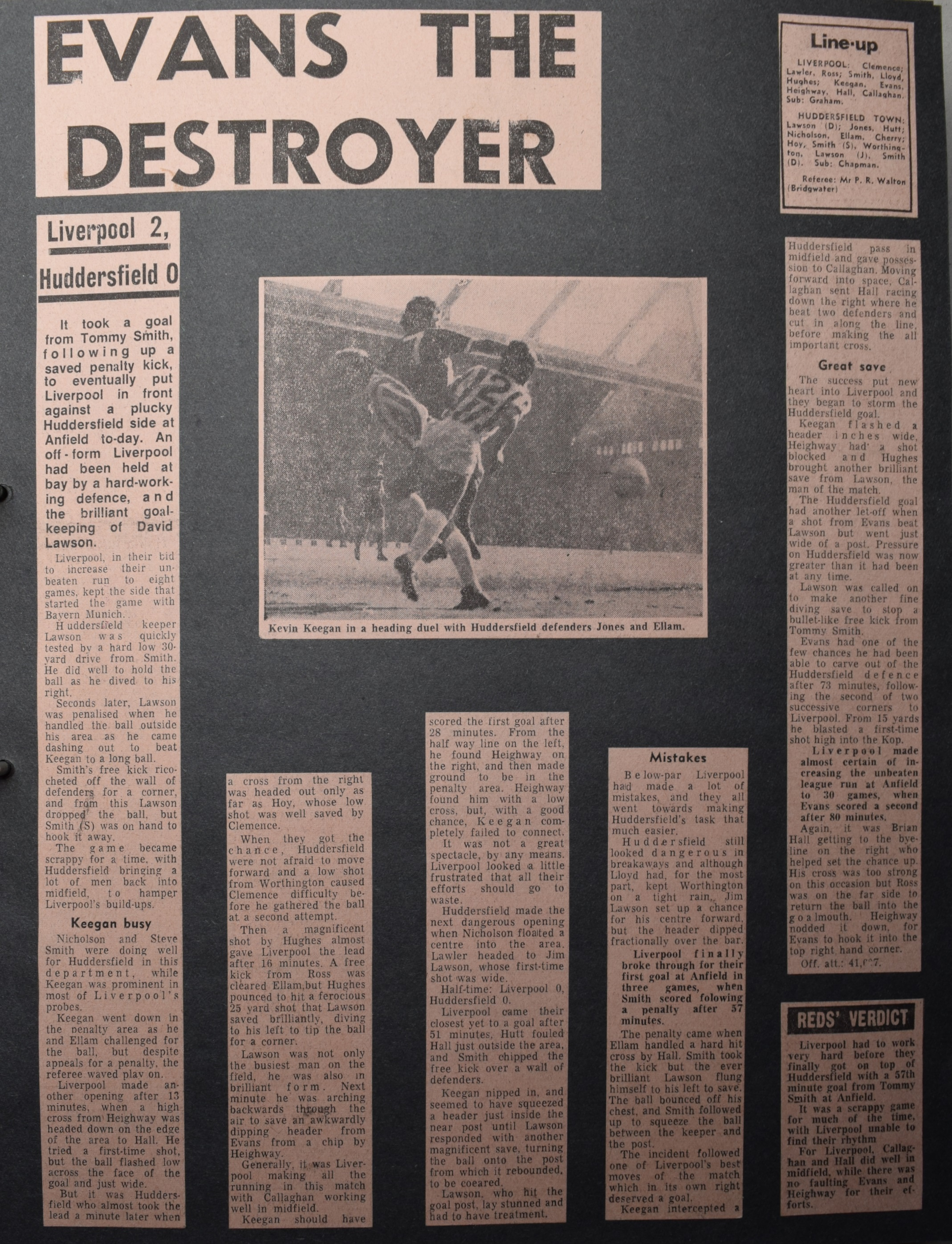 Evans the destroyer - 23 October 1971