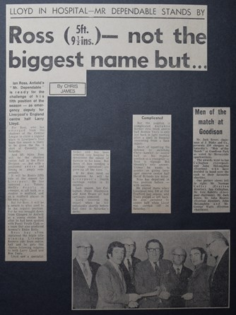 Ross not the biggest name but... - 13 November 1971