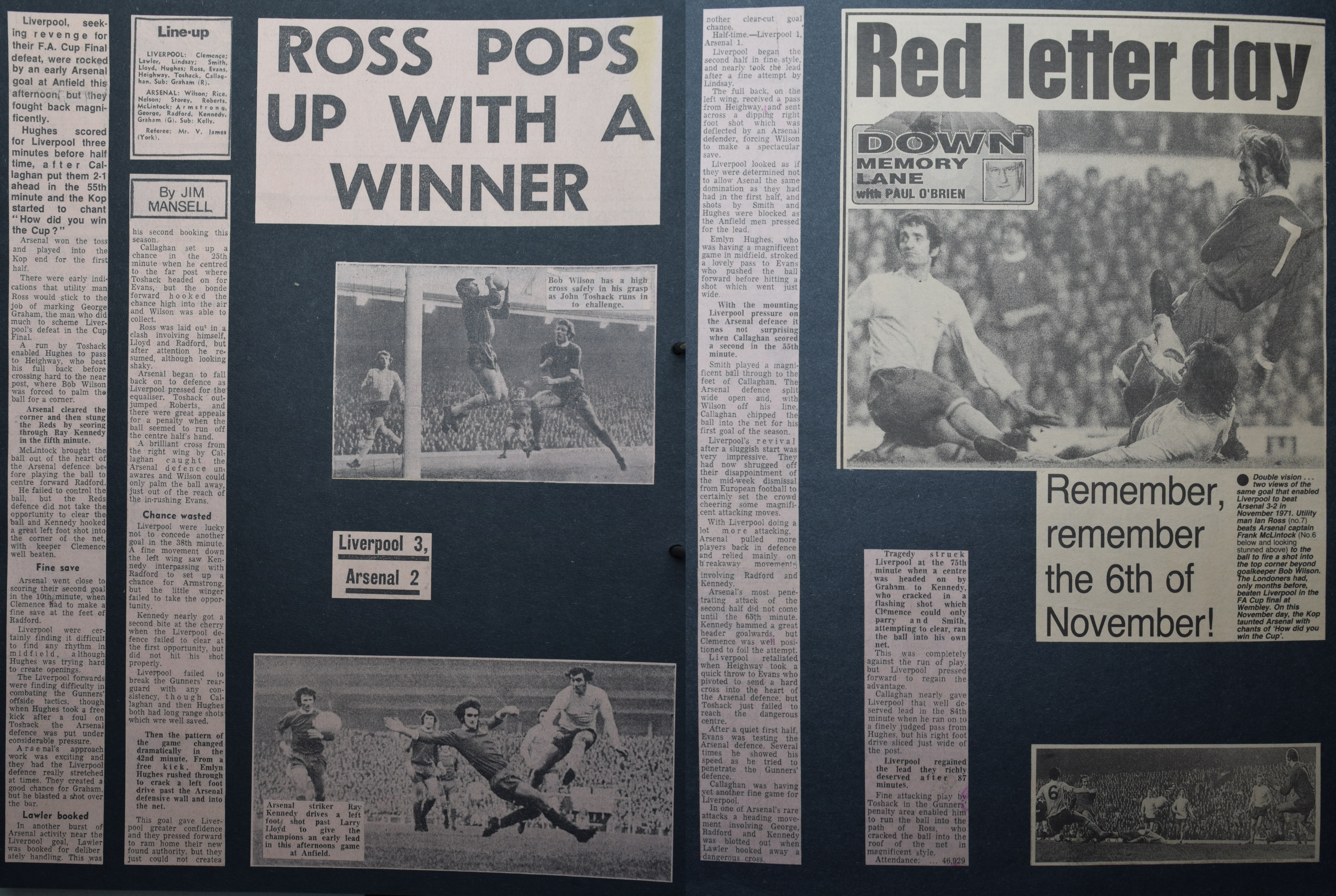 Ross pops up with a winner - 6 November 1971