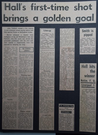 Hall's first-time shot brings a golden goal - 24 April 1971
