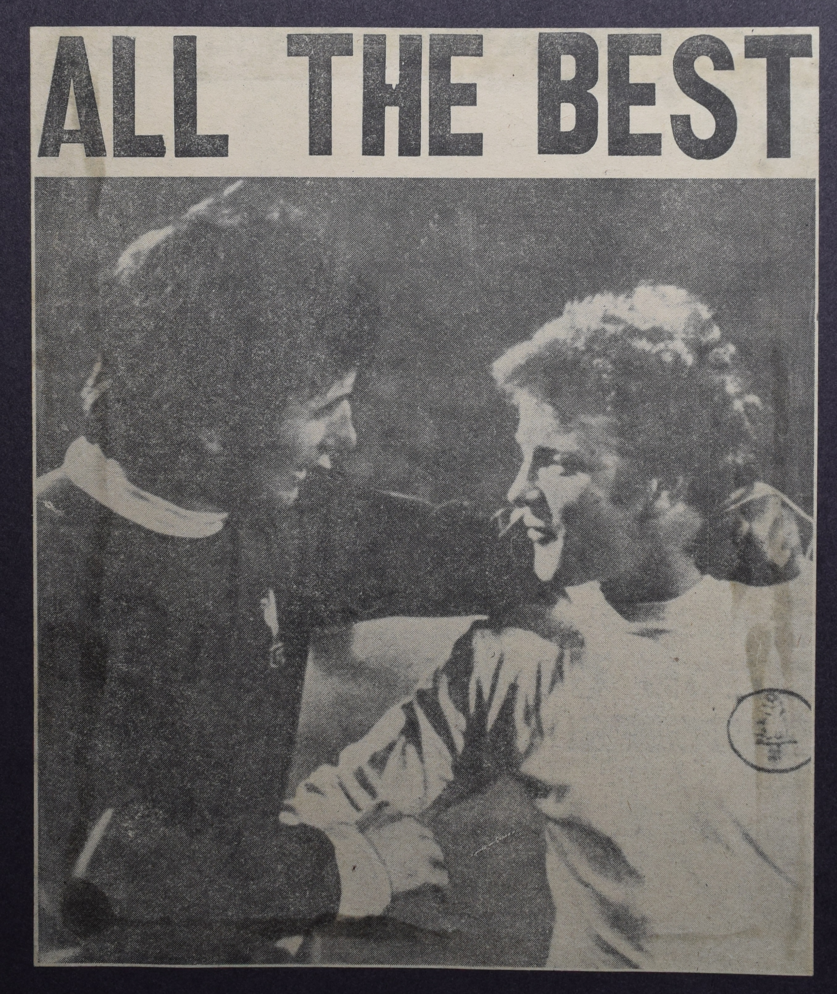All the best, says Smith to Bremner in Fairs Cup - 28 April 1971