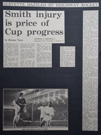 Smith injury is the price of cup progress - 29 September 1971
