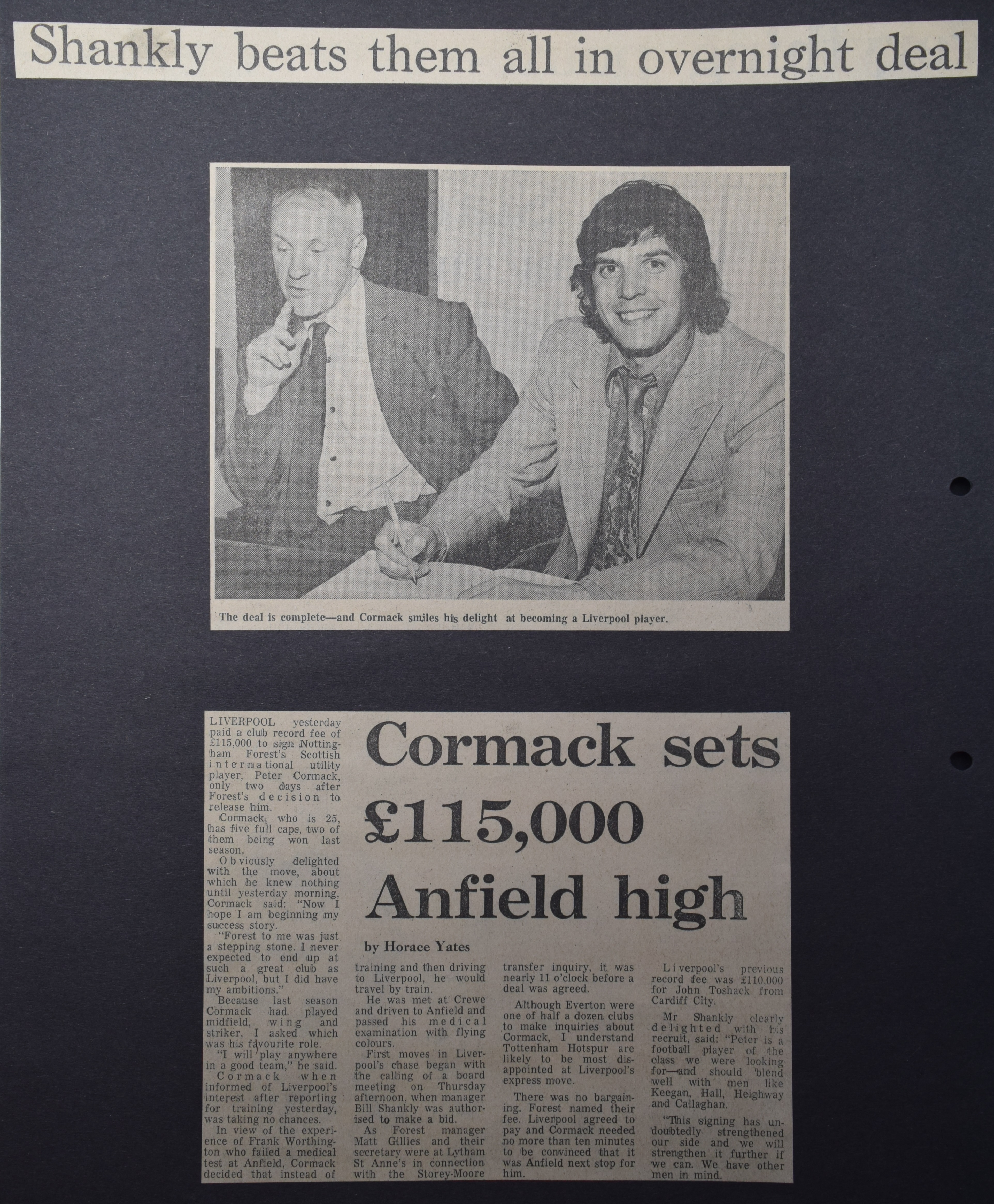 Cormack sets £115,000 Anfield high! - 14 July 1972