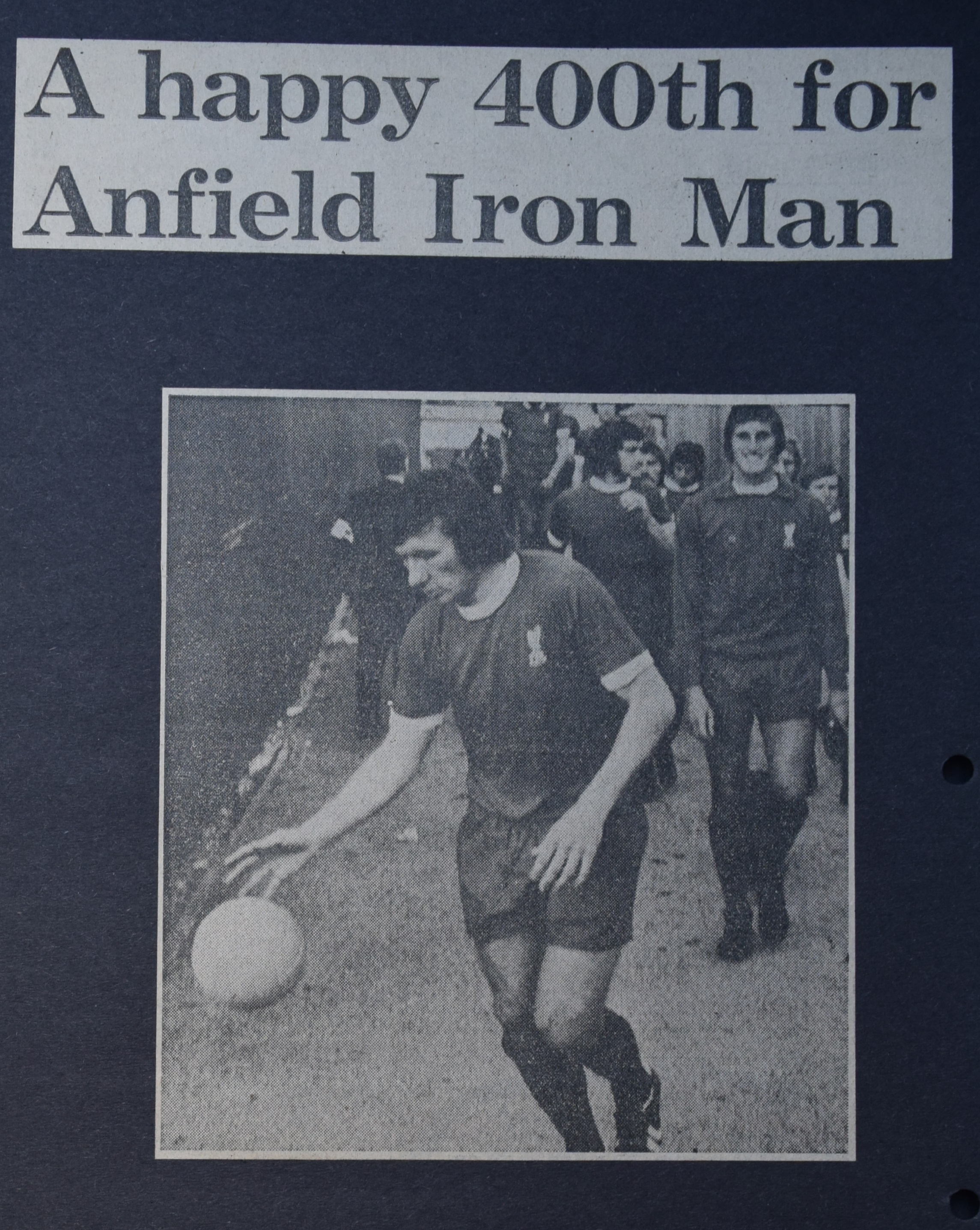 A happy 400th for Anfield Iron Man - 23 August 1972