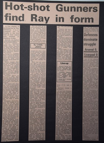 Hot-shot Gunners find Ray in form - 12 September 1972