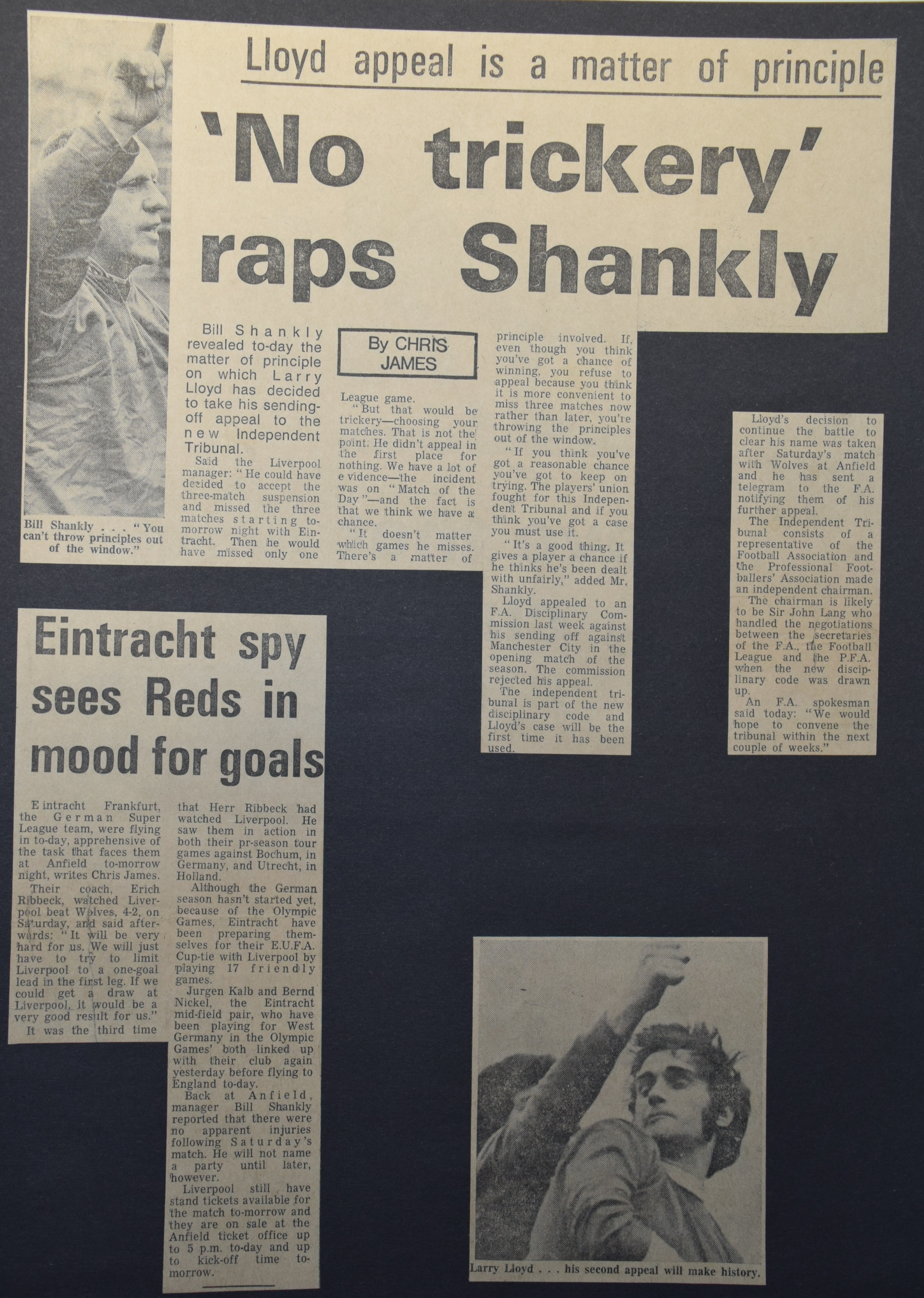 No trickery raps Shankly - September 1972