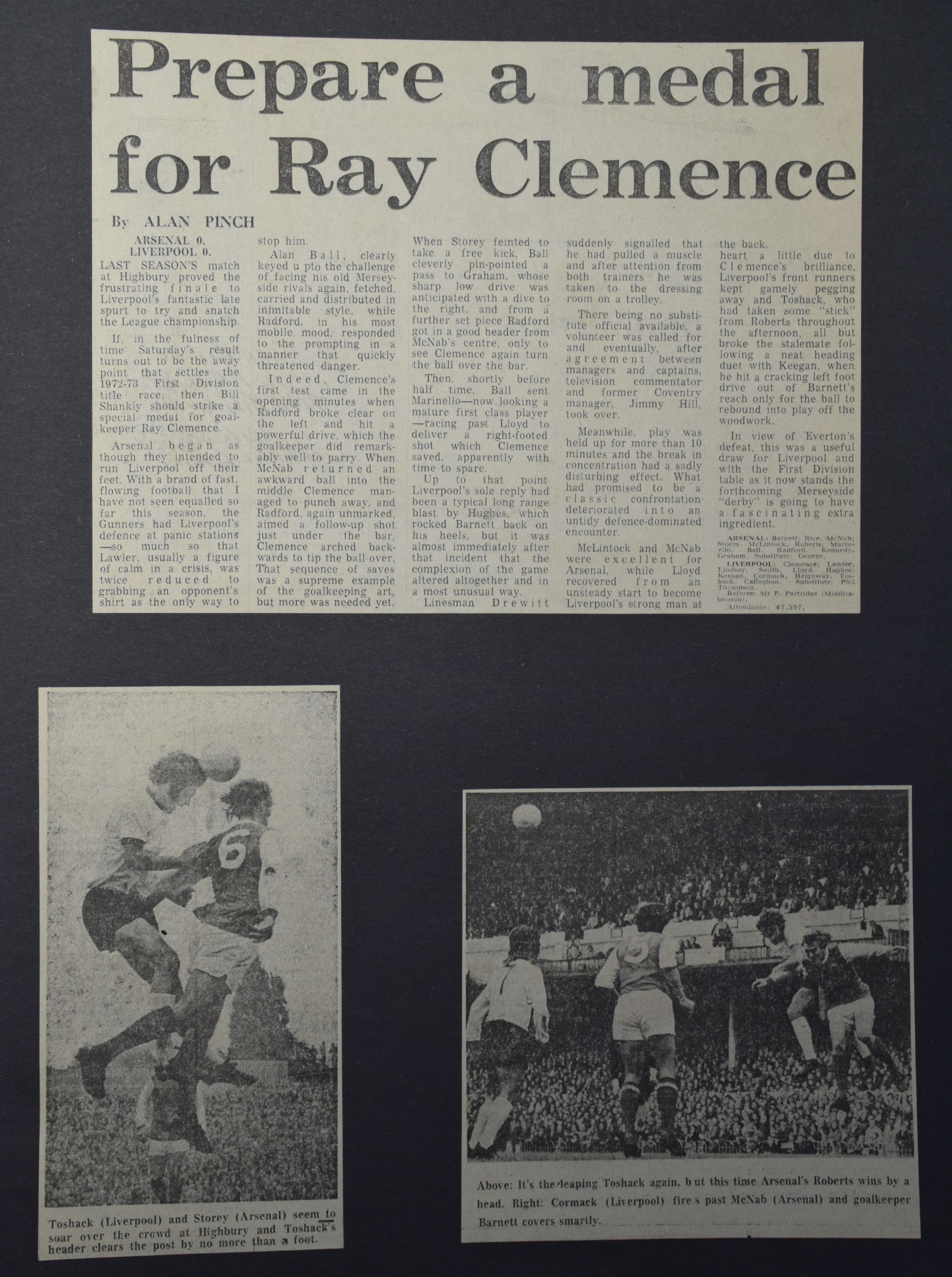 d7833792225 Liverpool career stats for Ray Clemence - LFChistory - Stats galore ...