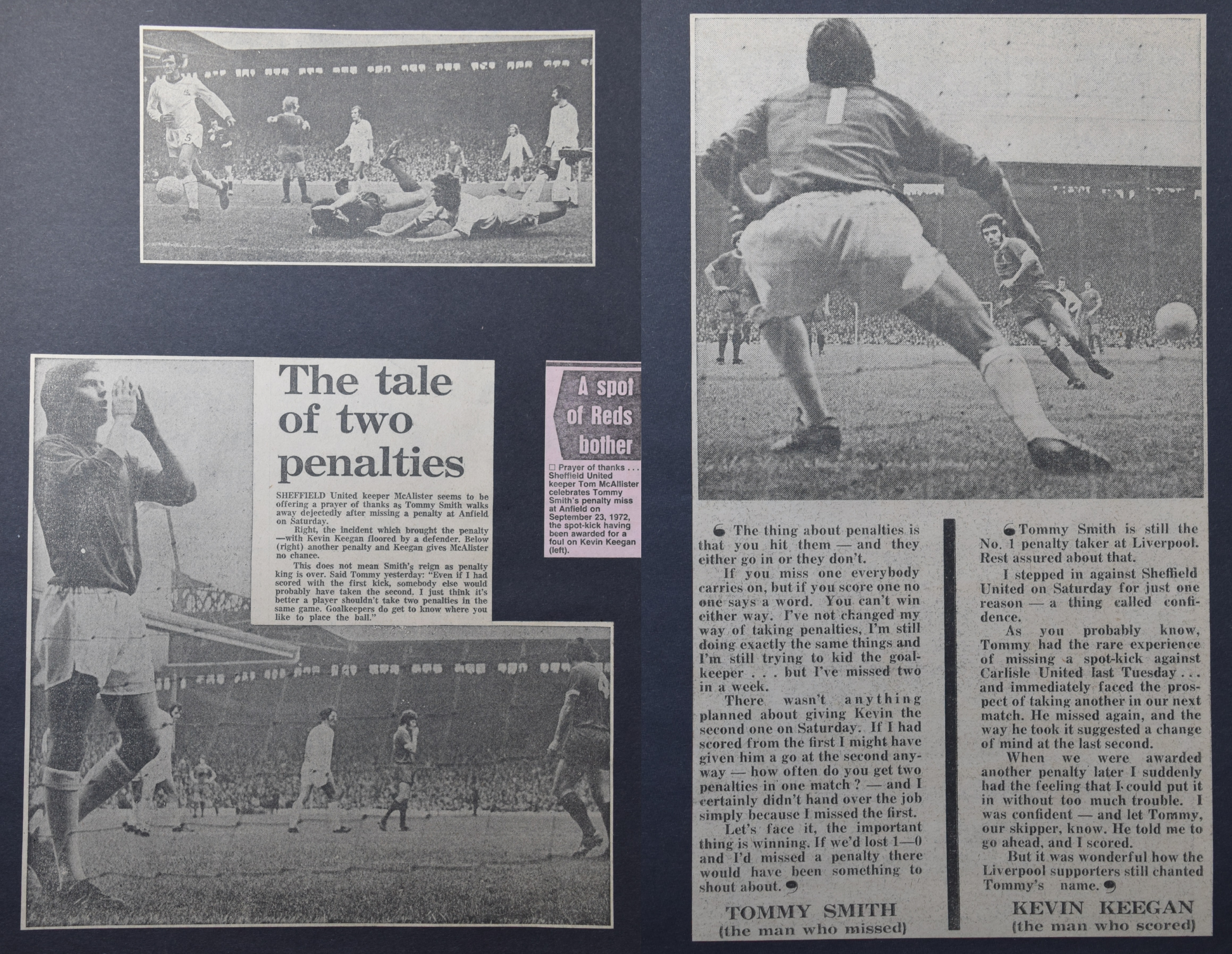 The tale of two penalties - 23 September 1972