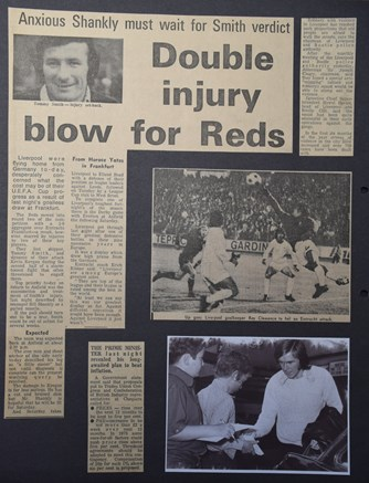 Double injury blow for Reds! - 26 September 1972