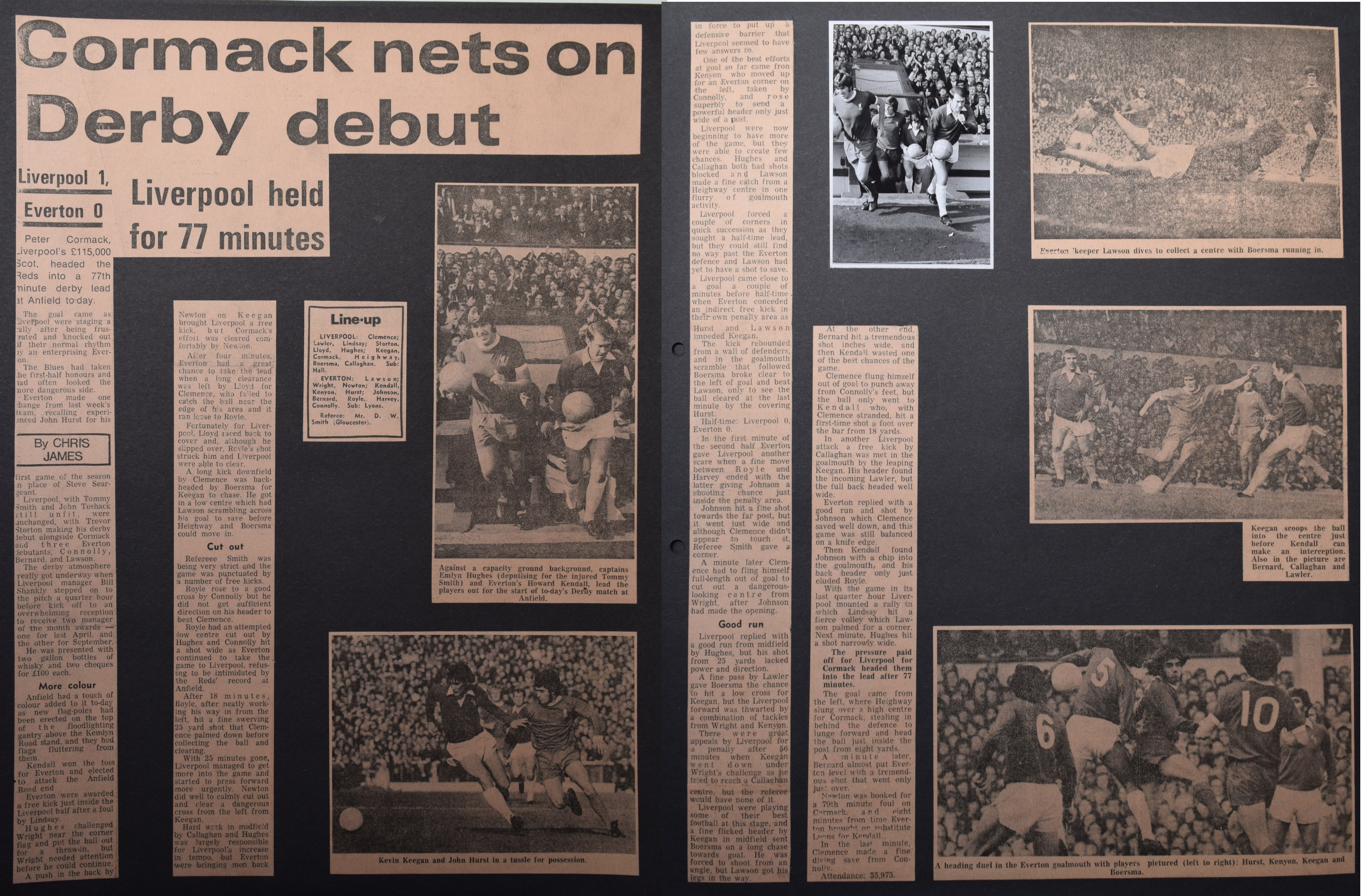 Cormack nets on derby debut - 7 October 1972