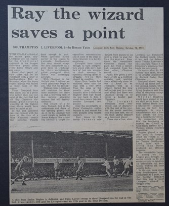 Ray the wizard saves a point - 14 October 1972