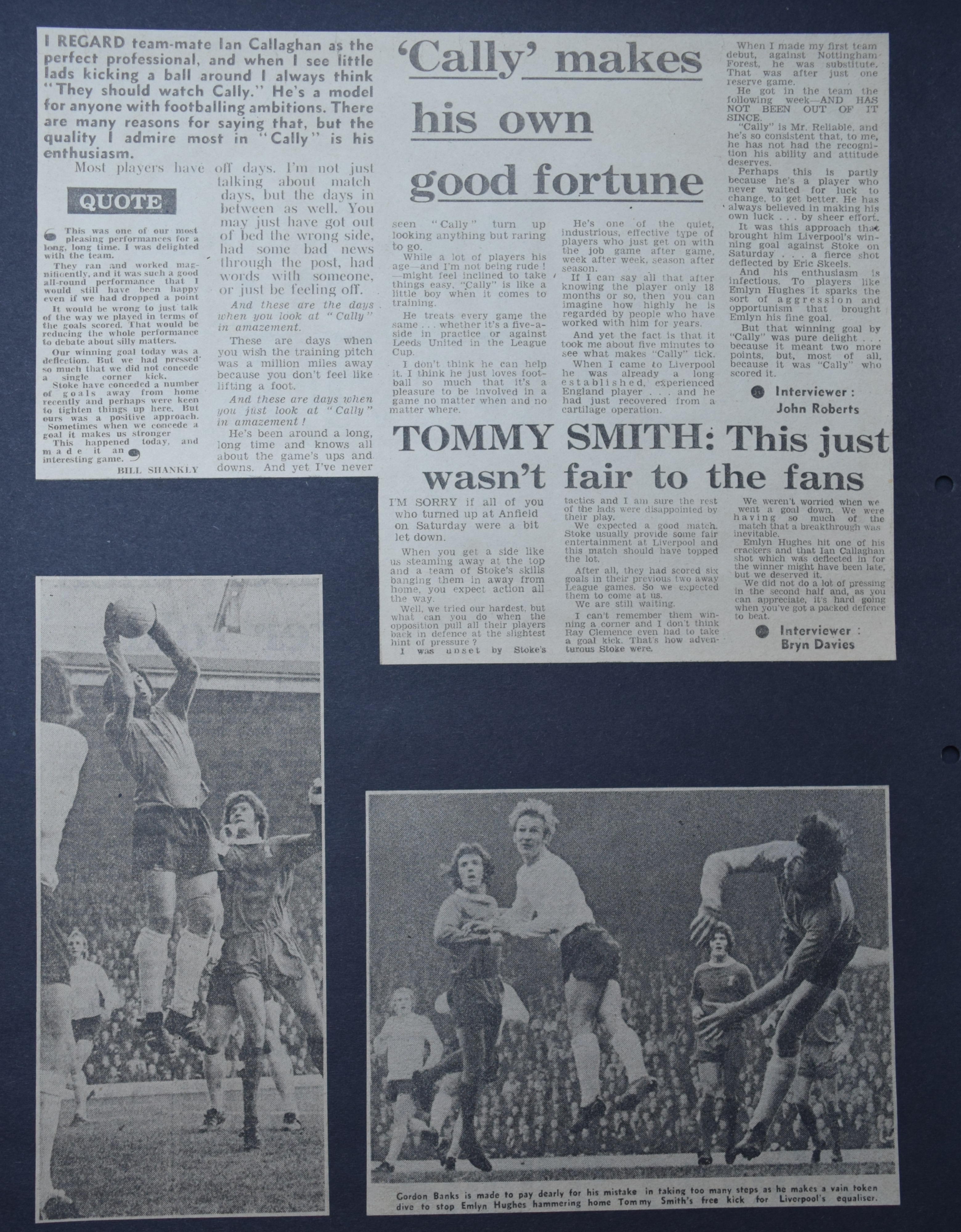 It wasn't fair on the fans - 21 October 1972