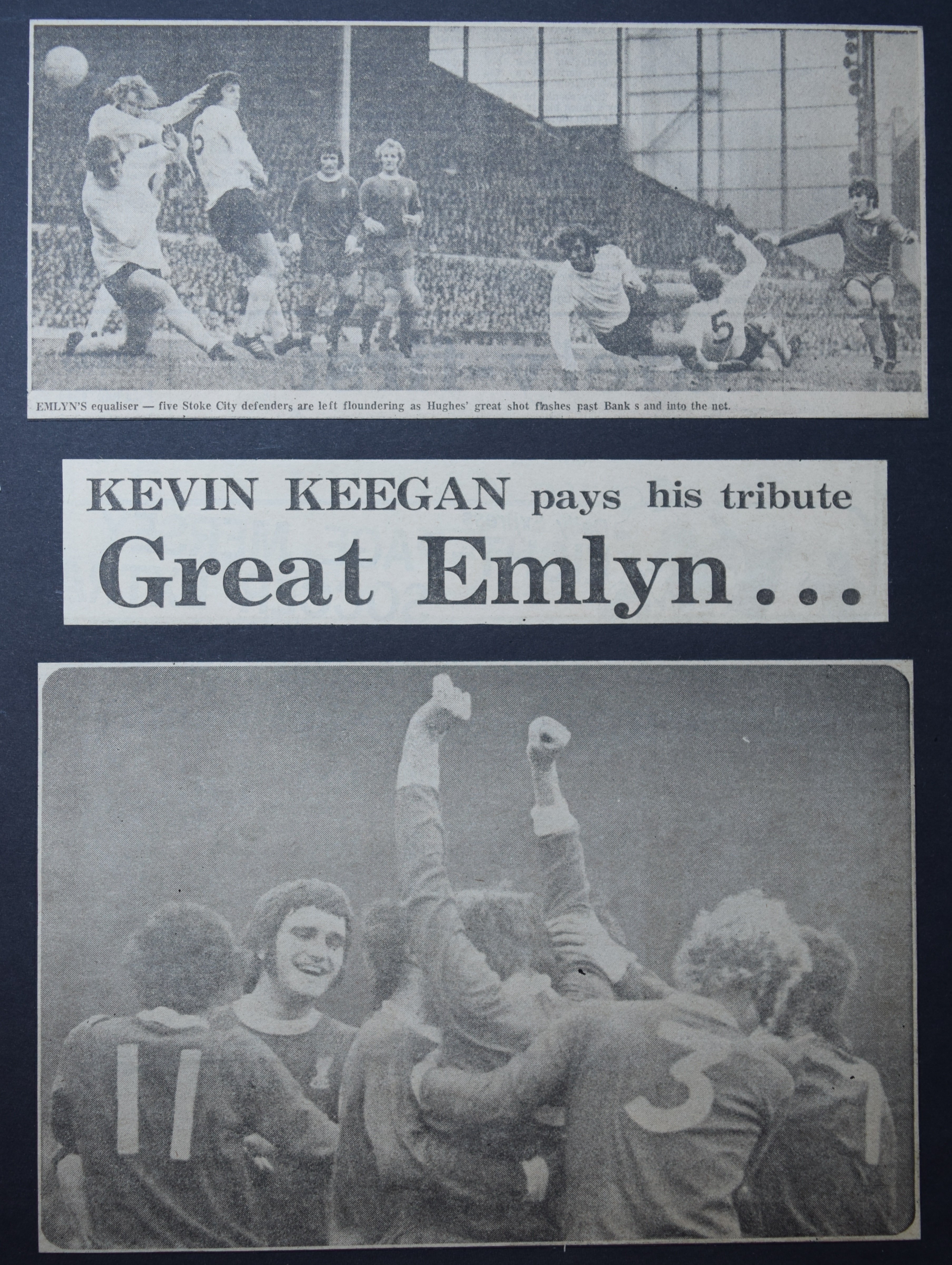 Keegan pays his tribute to great Emlyn - 21 October 1972