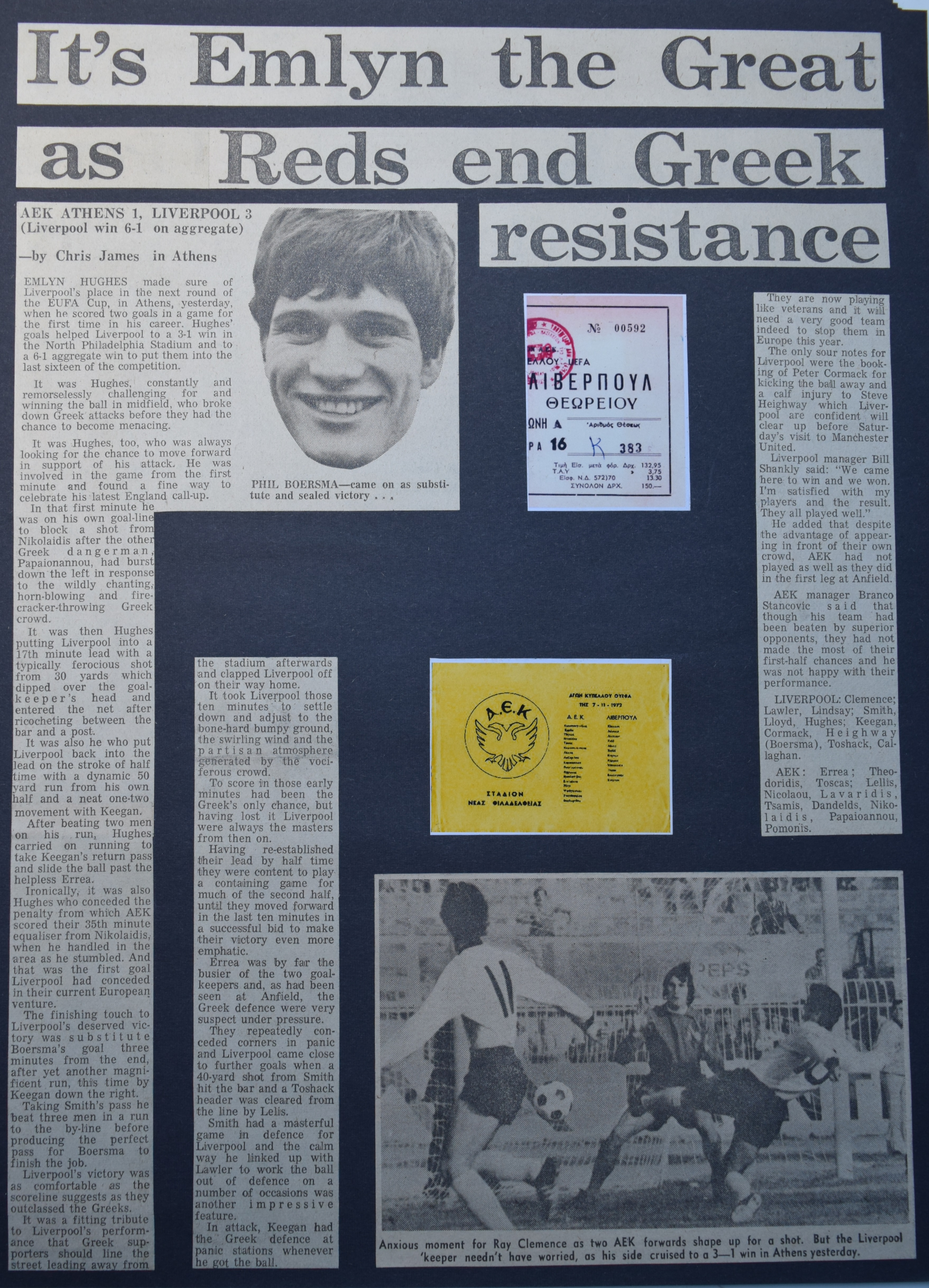 It's Emlyn the great as Reds end Greek resistance - 7 November 1972