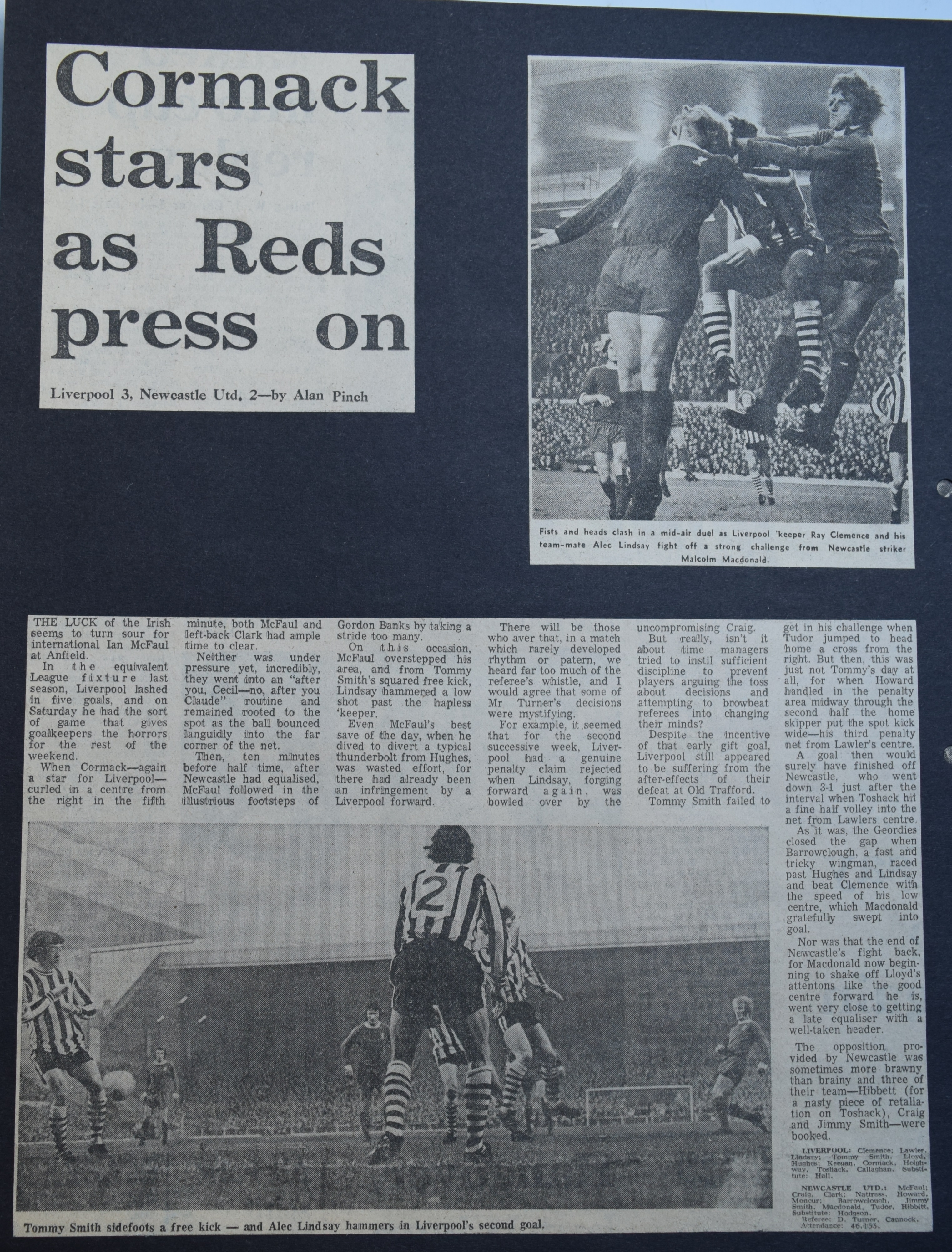 Cormack stars as Reds press on - 18 November 1972