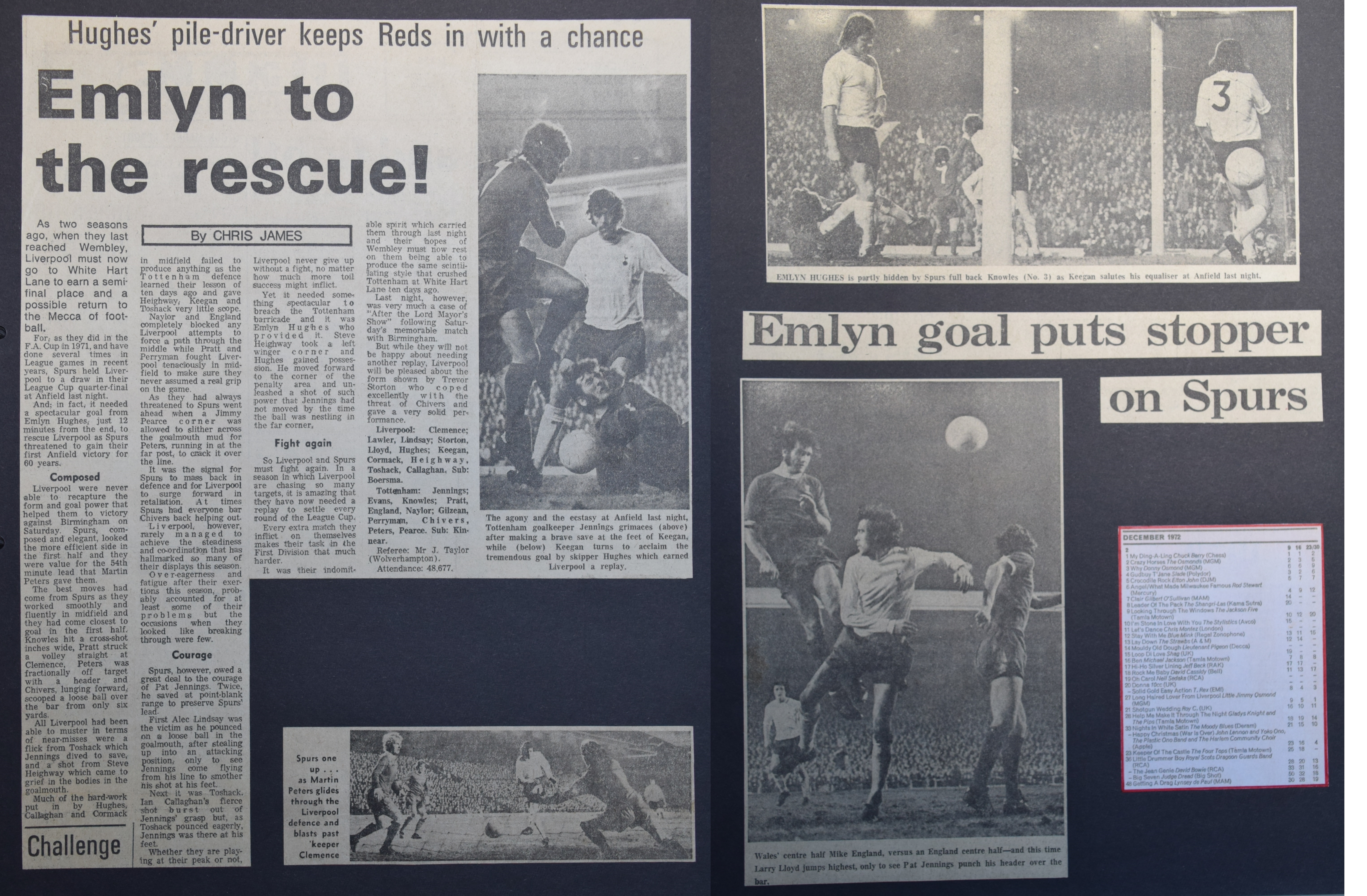 Emlyn to the rescue - 4 December 1972