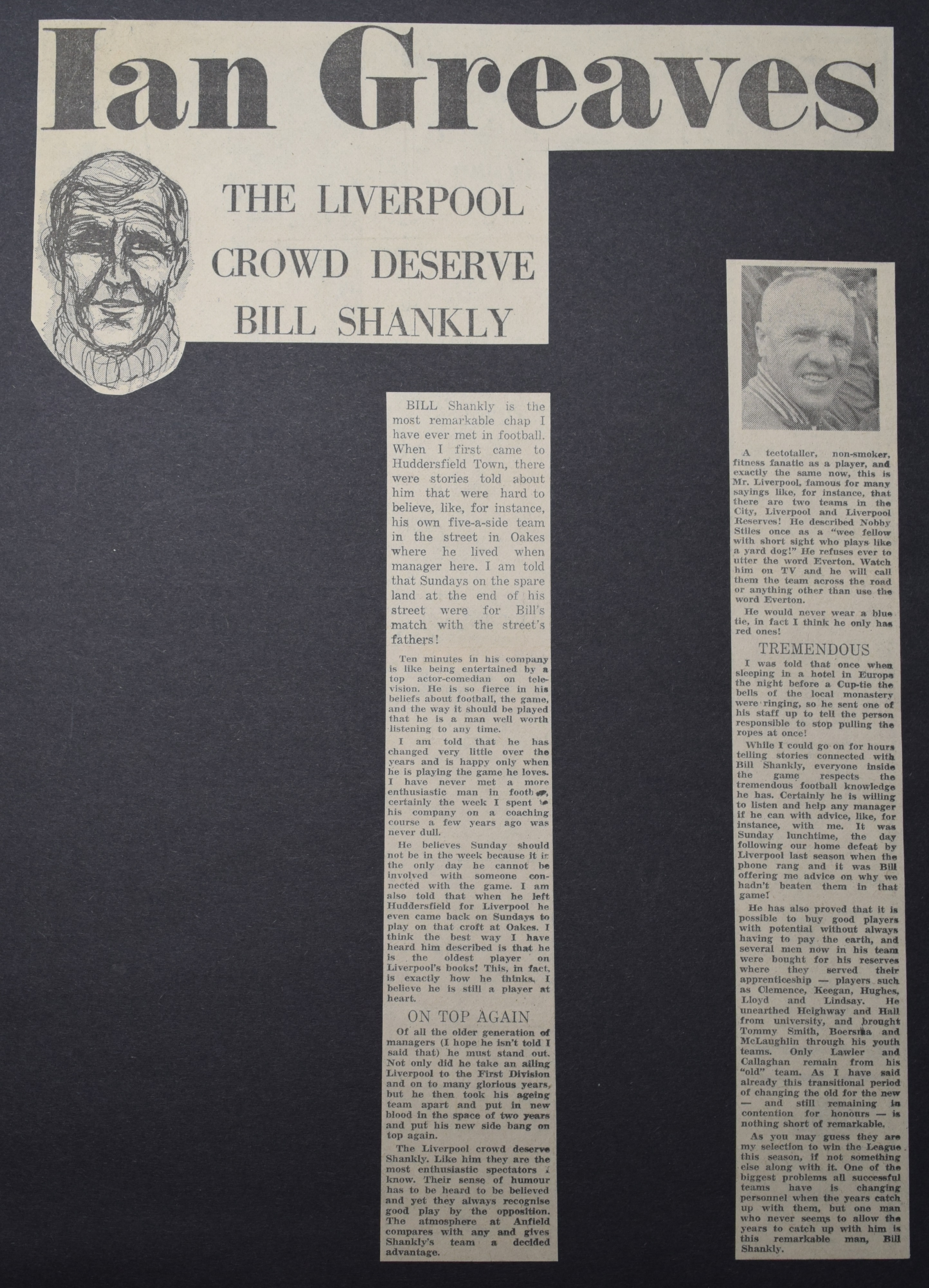The Liverpool crowd deserves Bill Shankly - December 1972