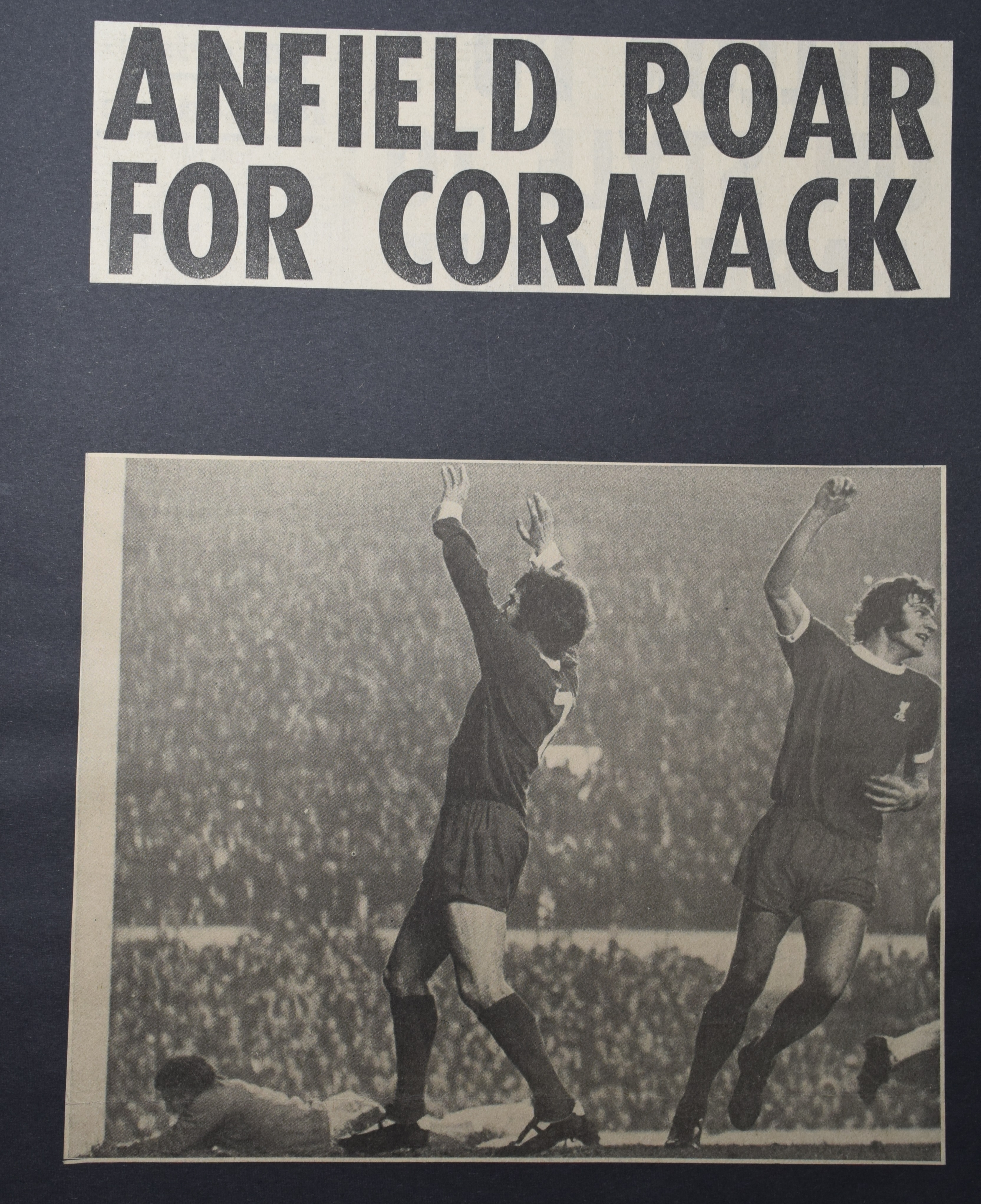Anfield roar for Cormack! - 30 December 1972