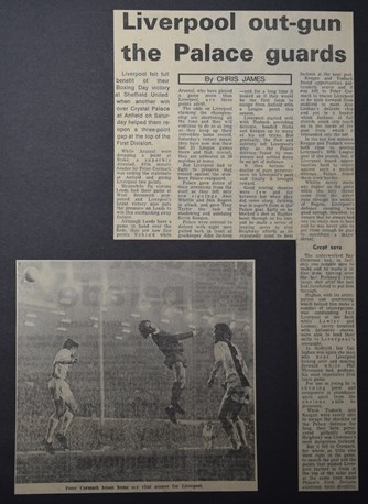Press report from Adrian Killen's scrapbook