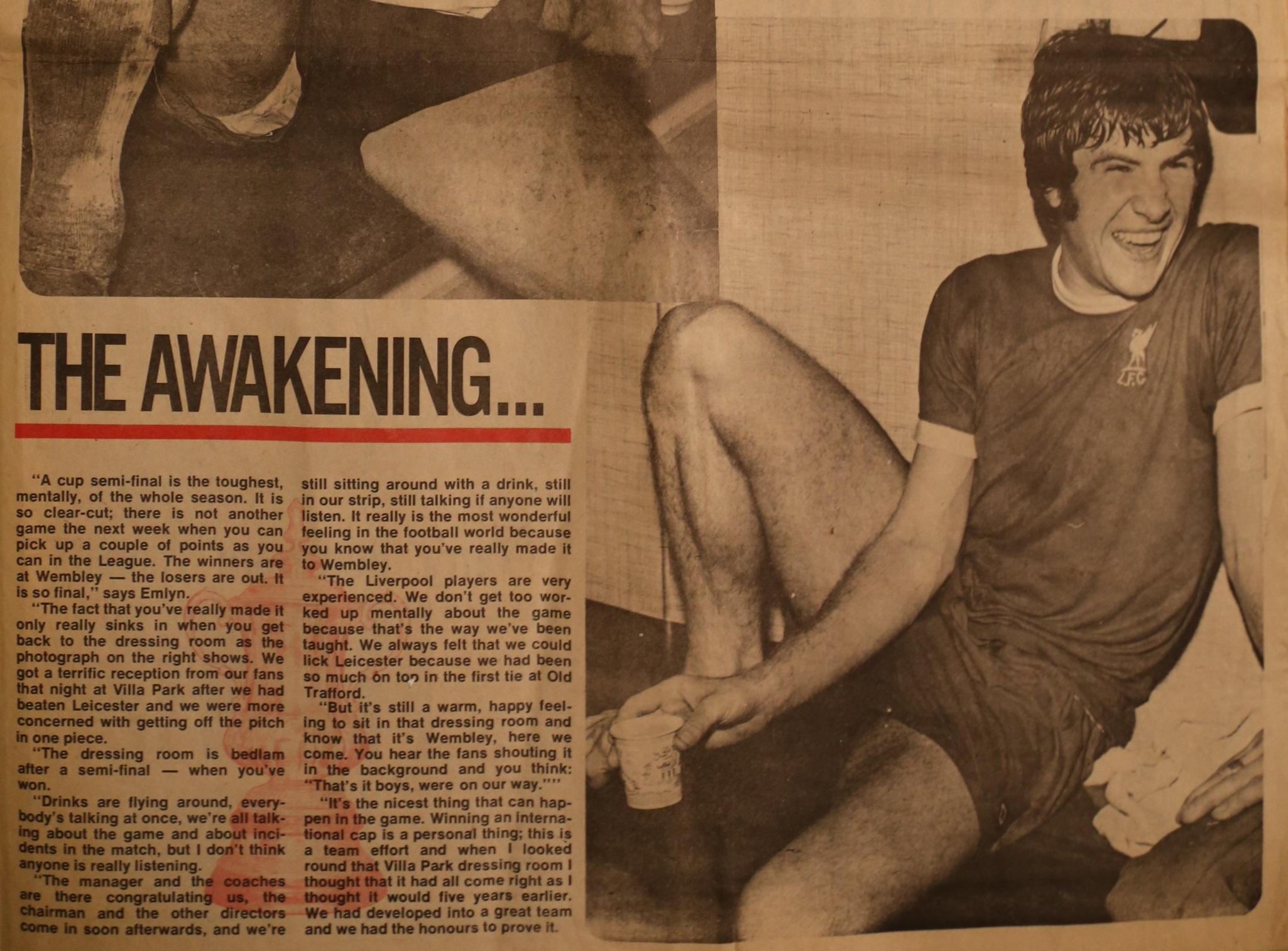 The awakening by Emlyn Hughes - 3 April 1974