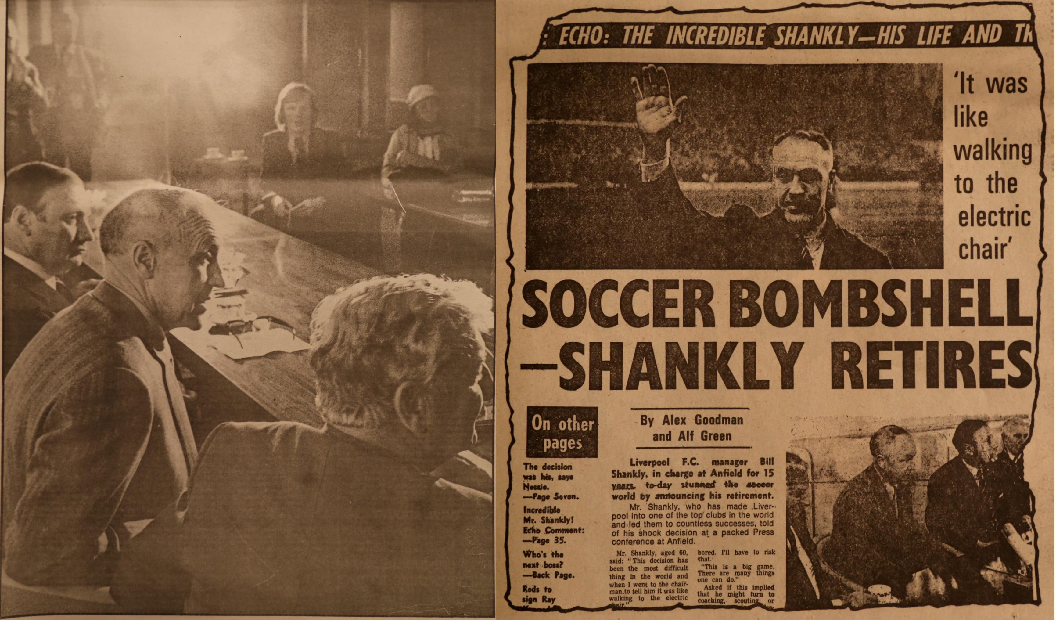 Soccer bombshell - Shankly quits!