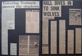 Hall dives in to sink Wolves - 4 October 1975