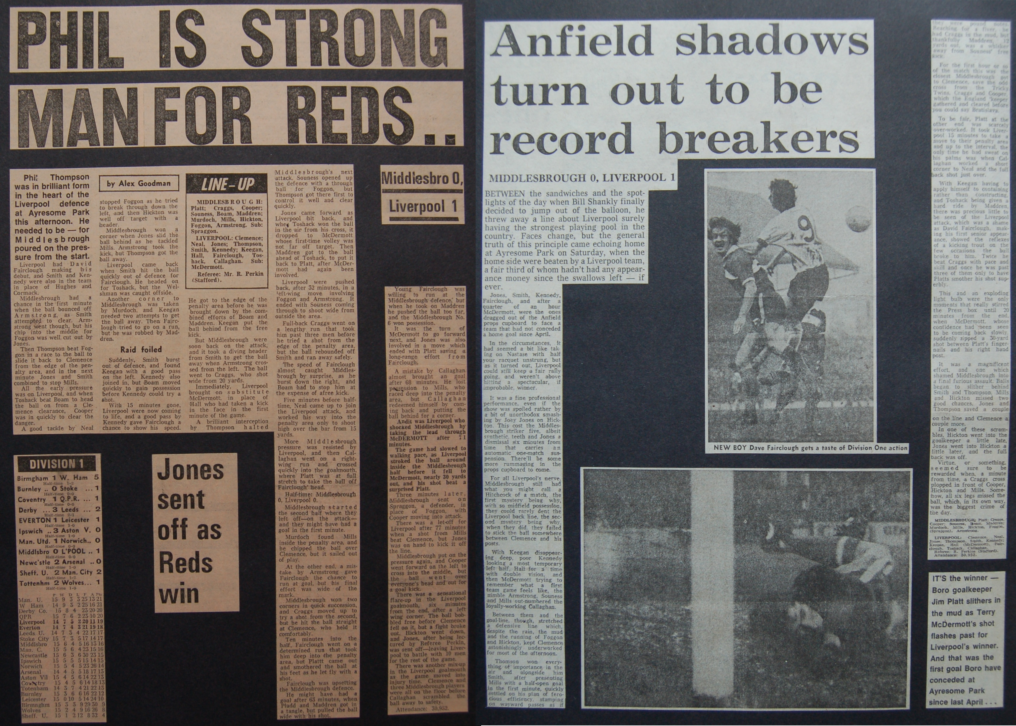 Phil is strong man for Reds - 1 November 1975